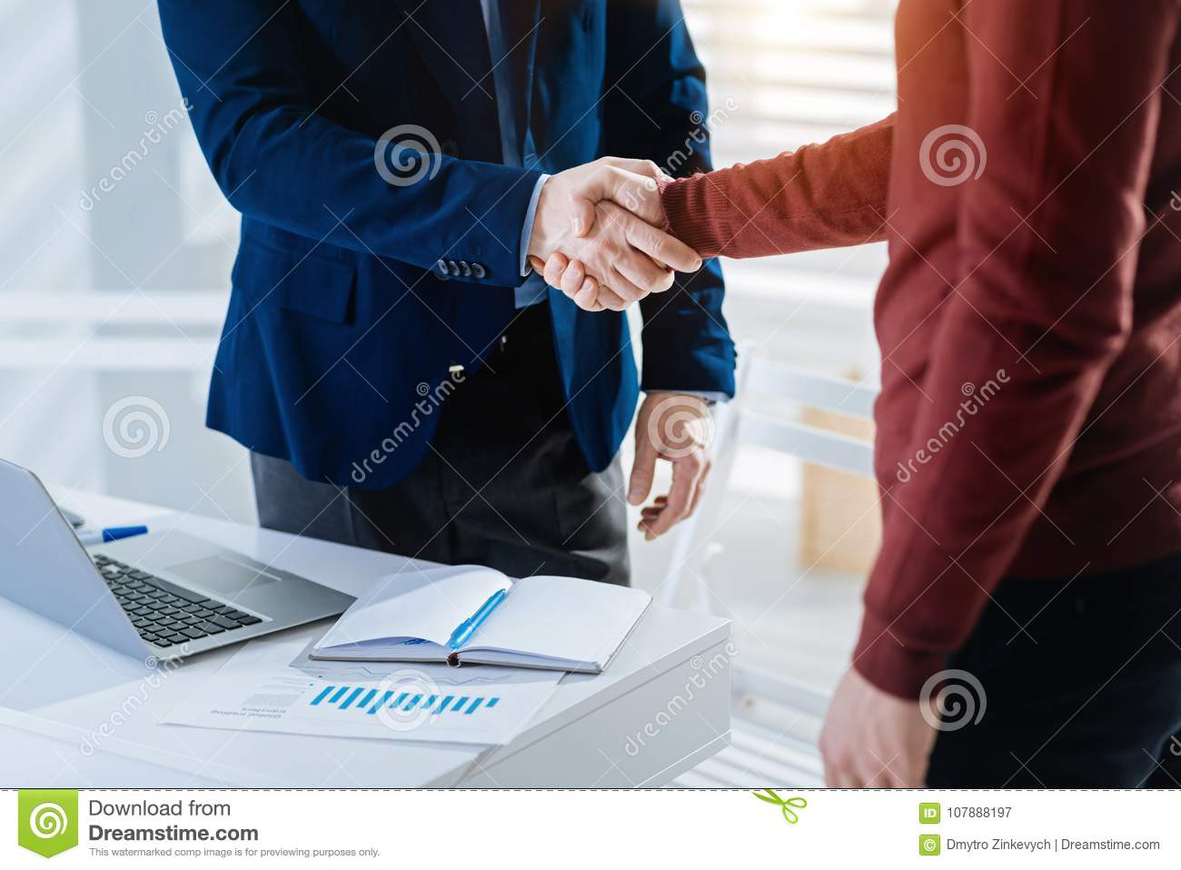 Strong Male Hands Conforming Deal Stock Image - Image of