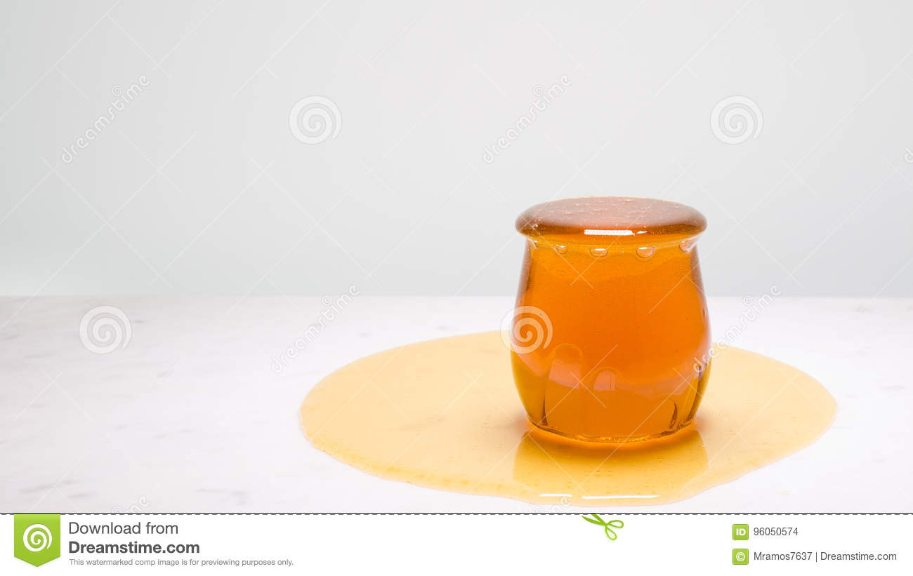 A Marble In A Cup Of Honey : My cup runneth over a jar overflowing with honey on