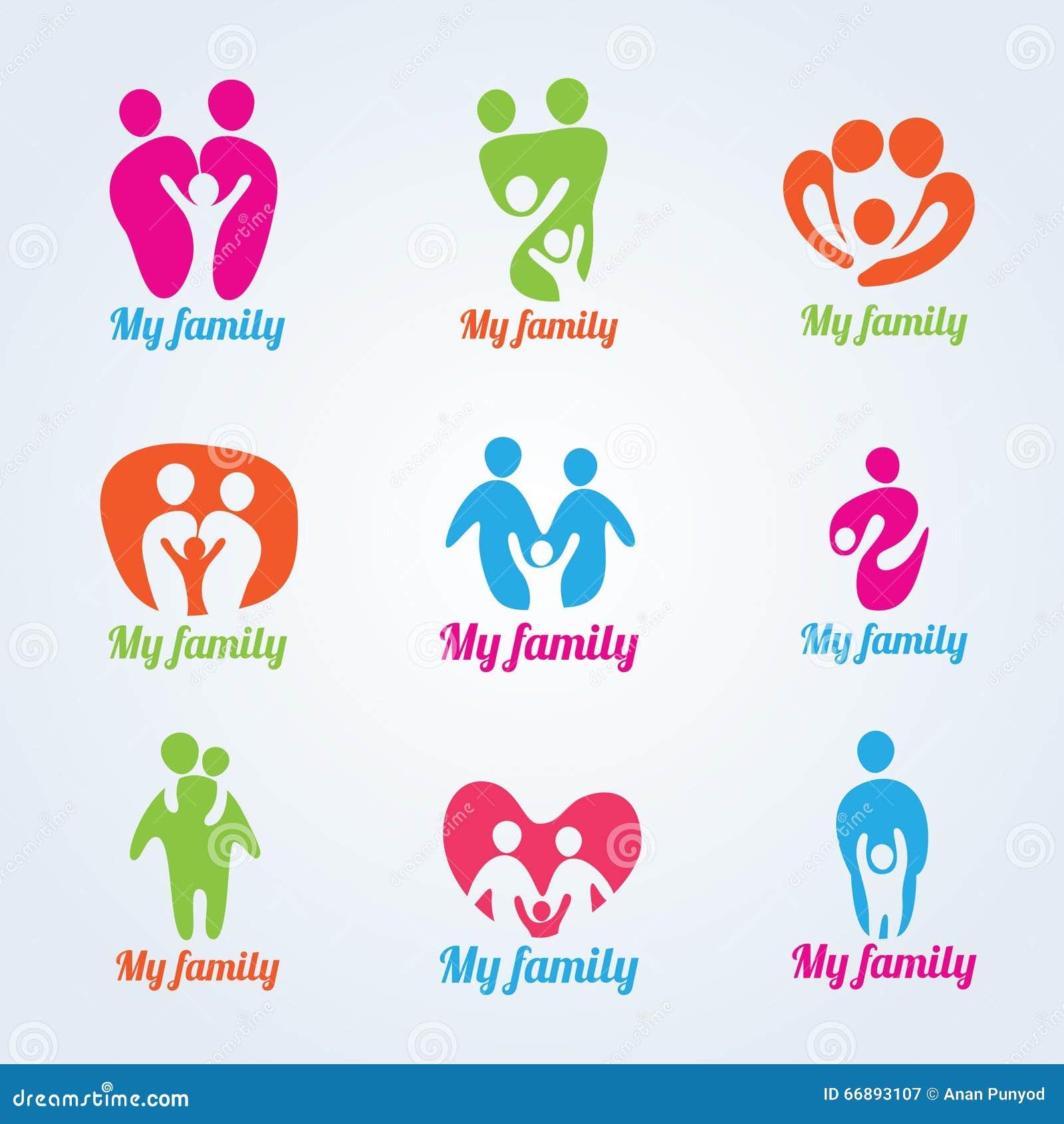 My Family People Modern Logo Vector Design Stock Vector ...