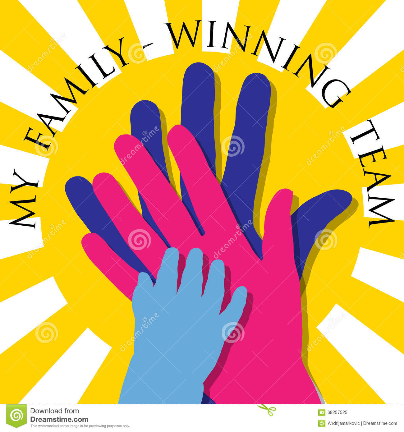 My family winning team stock vector illustration of icon 68257525 my family winning team buycottarizona Image collections