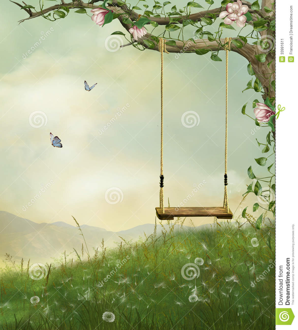My Fantastic Swing Stock Image - Image: 33991611