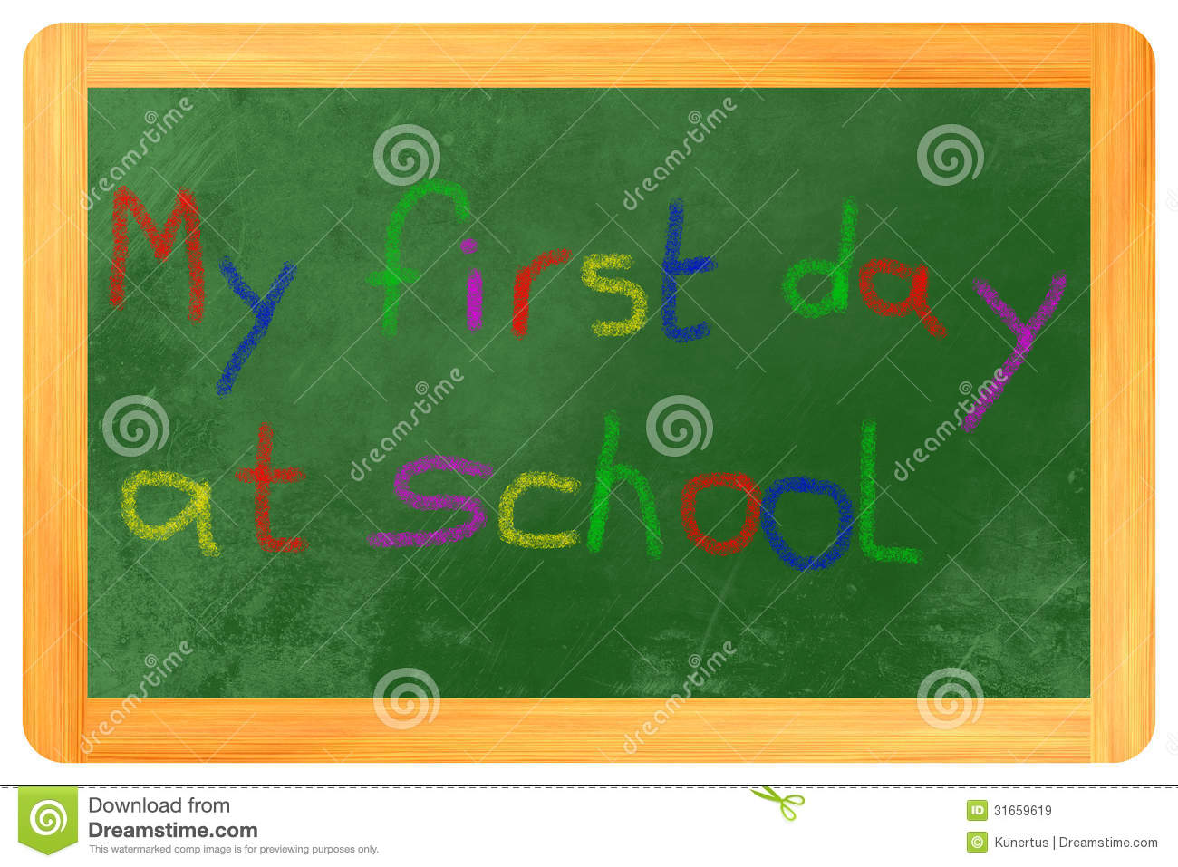 my 1st day at school