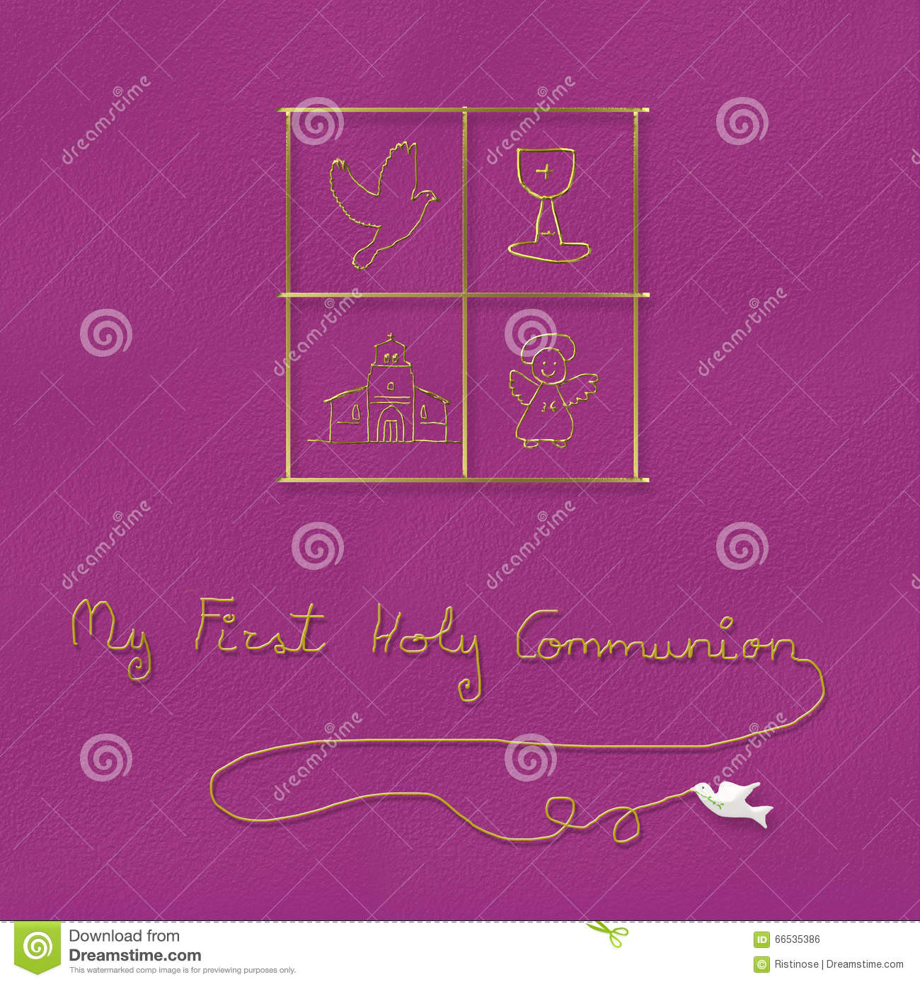 My First Holy Communion For Girl Stock Illustration Illustration
