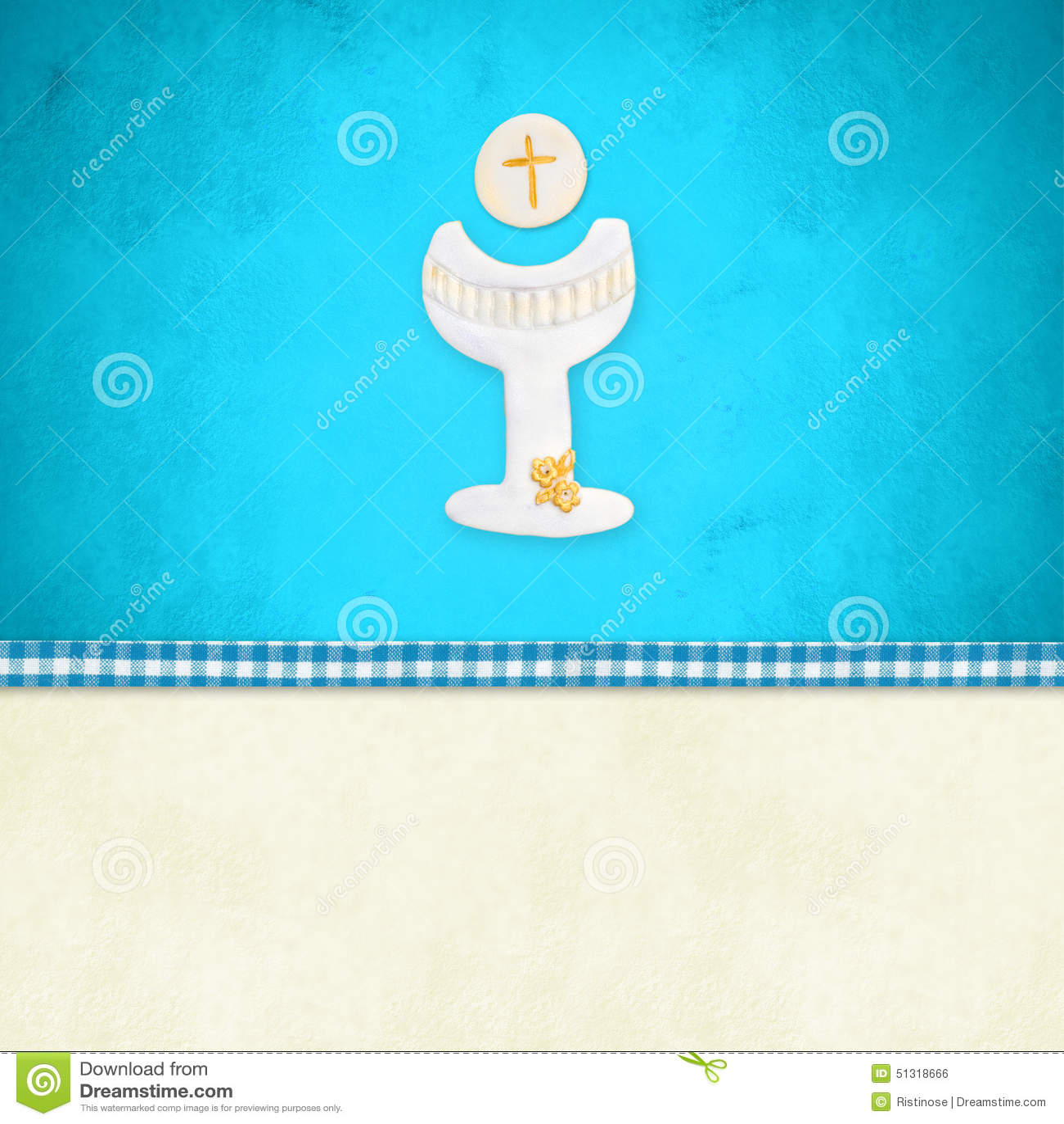 My First Holy Communion Invitation Reminder Stock Illustration