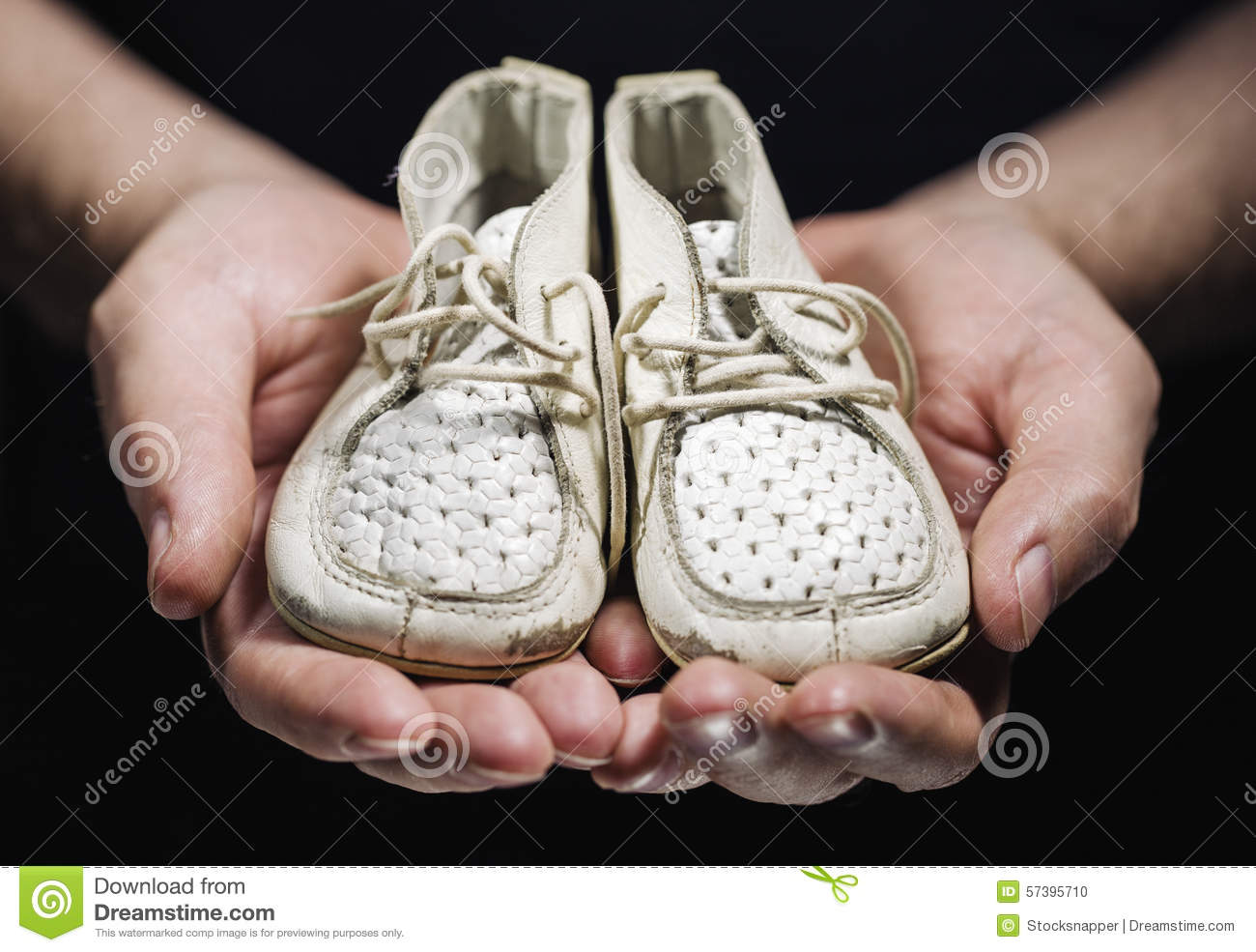 Old Fashioned White Baby Shoes