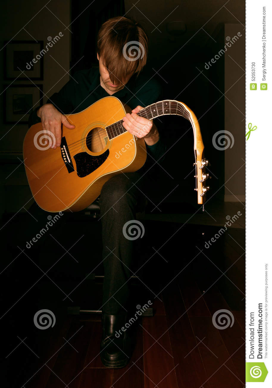 While My Guitar Gently Weeps Stock Photo Image Of Tears