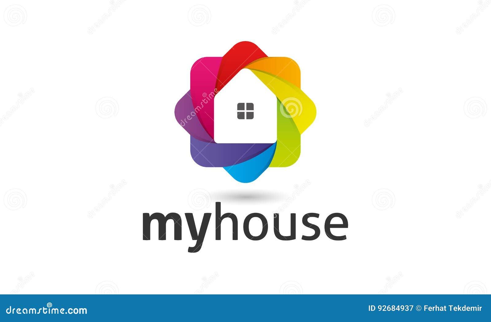 My House Logo Stock Vector Illustration Of Minimalist 92684937