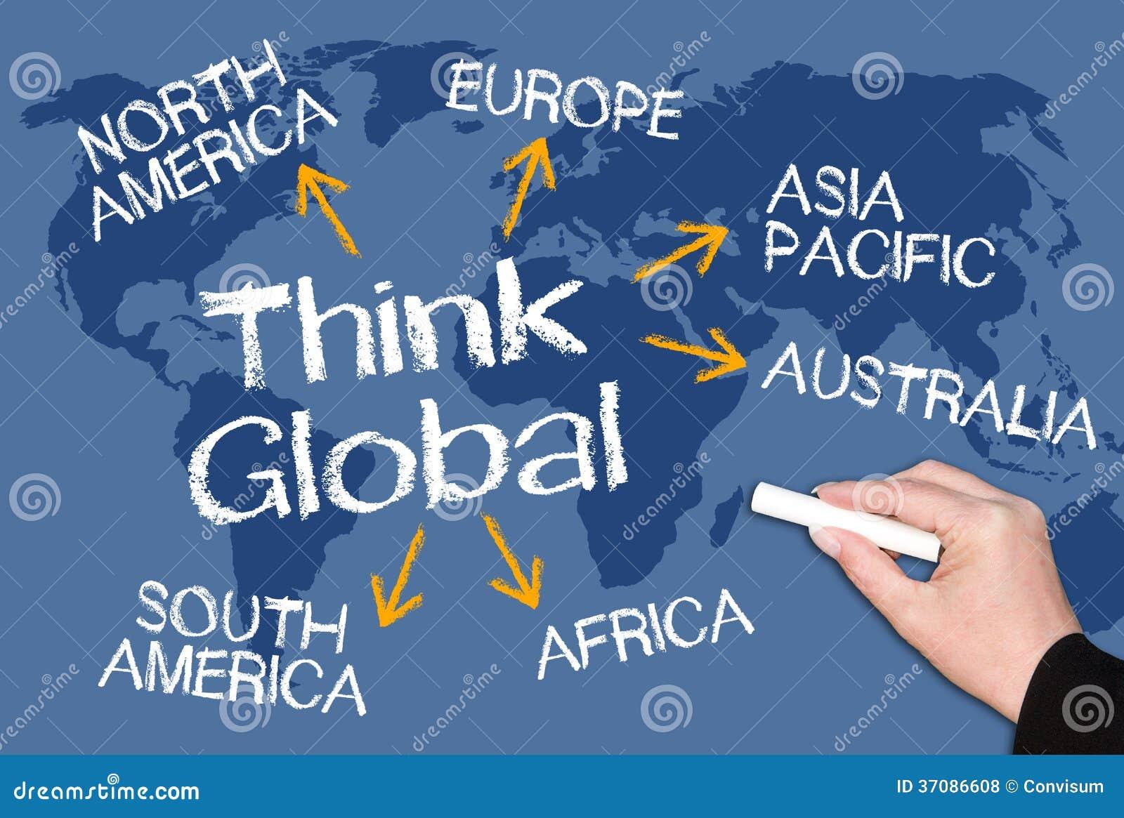Download Myśl globalna zdjęcie stock. Obraz złożonej z namolny - 37086608