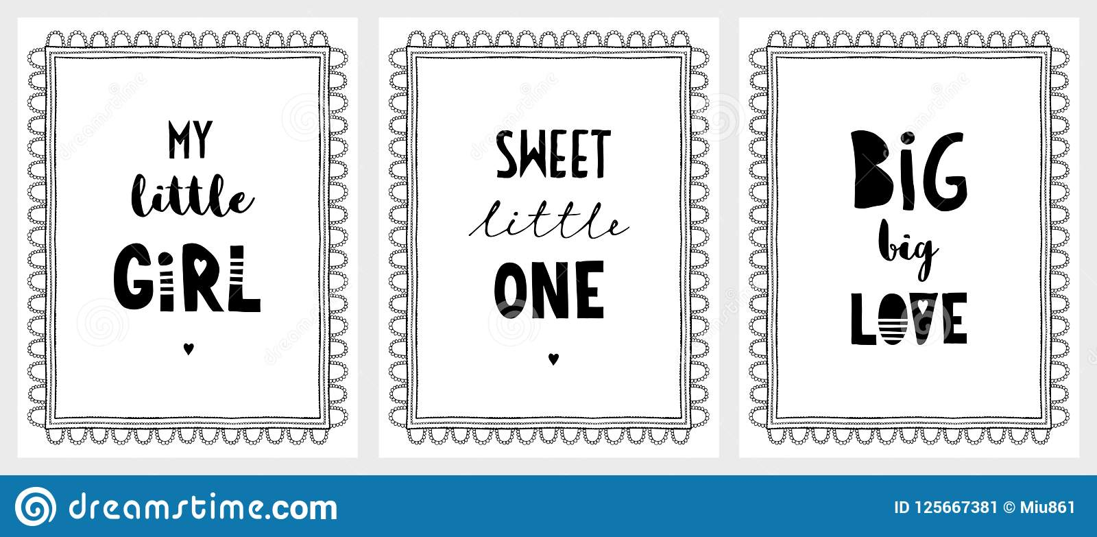 My Little Girl, Big Love And Sweet Little One Posters  Stock