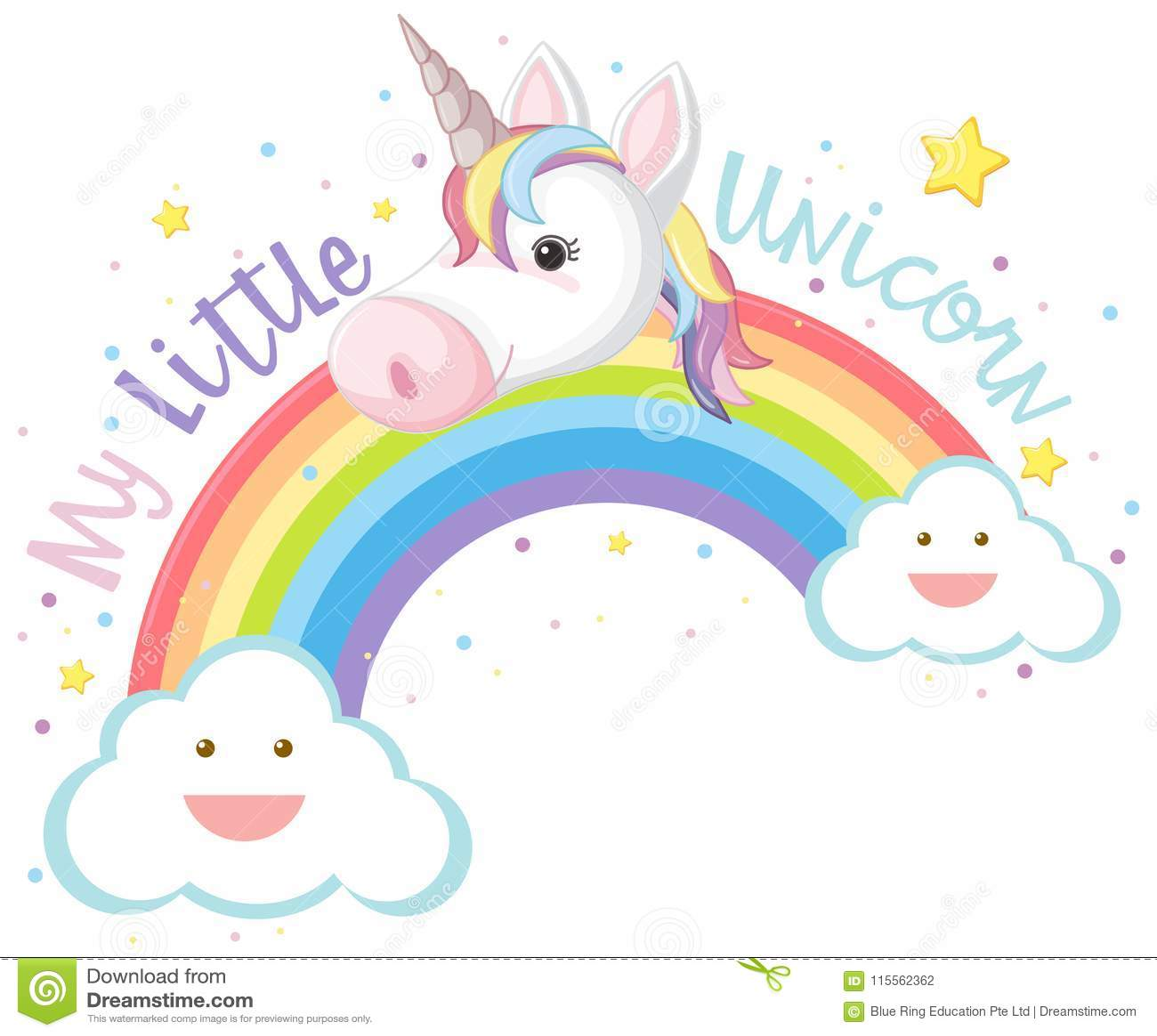 My Little Unicorn and Rainbow