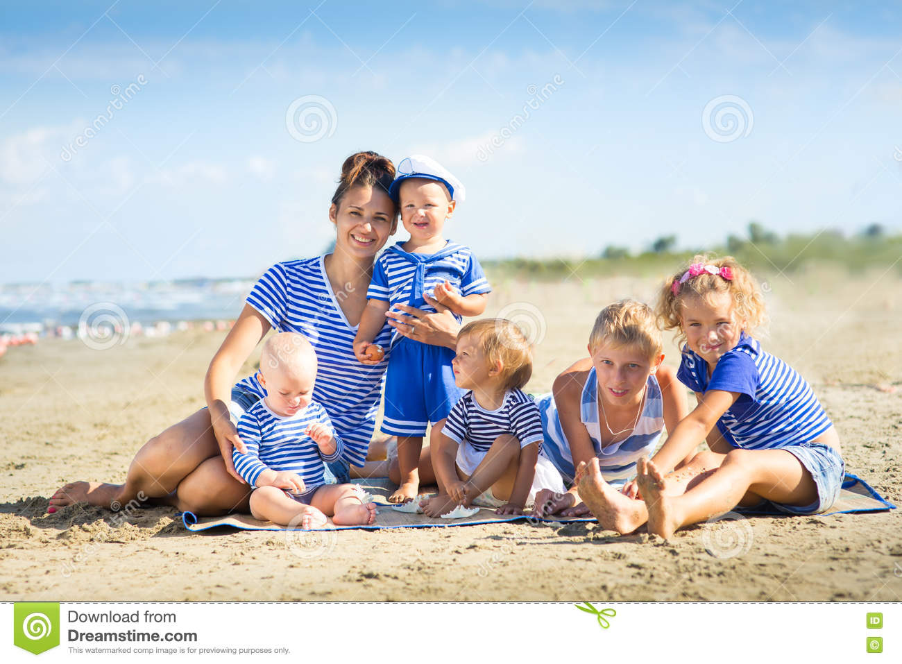 My mother with five children