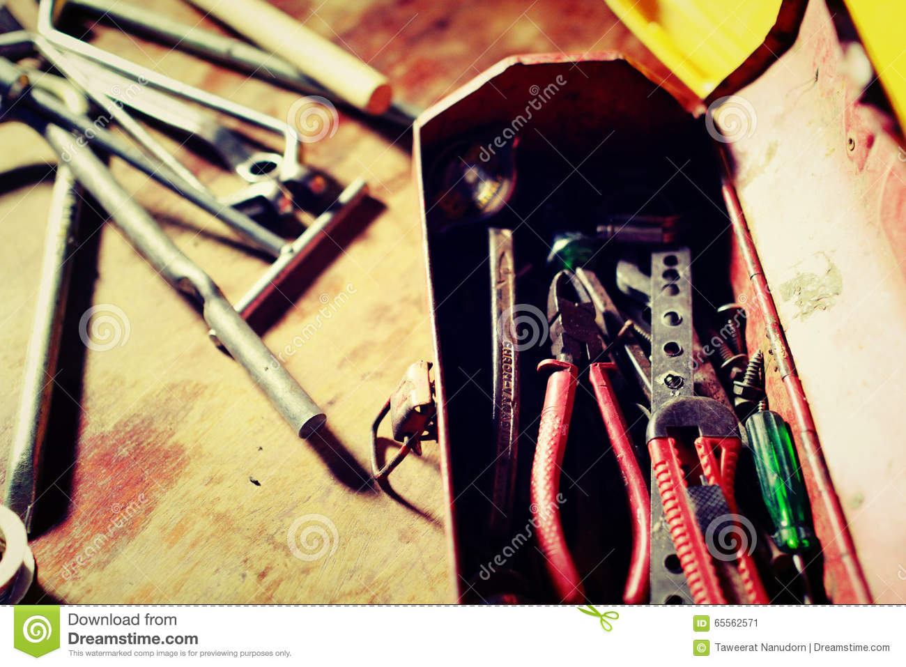 My Old Tools For Fix Everything Stock Image Of Tool House Wiring In The