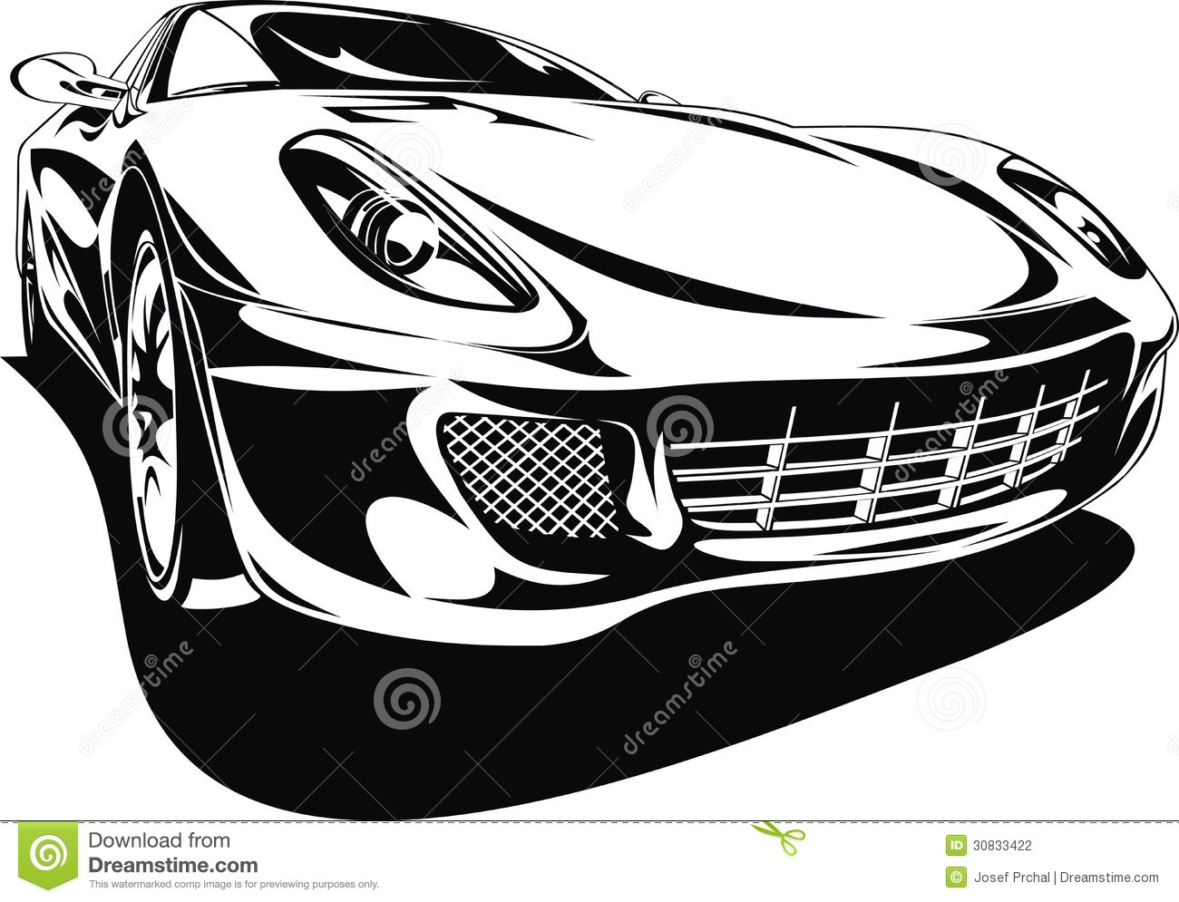 black sports car clipart - photo #30
