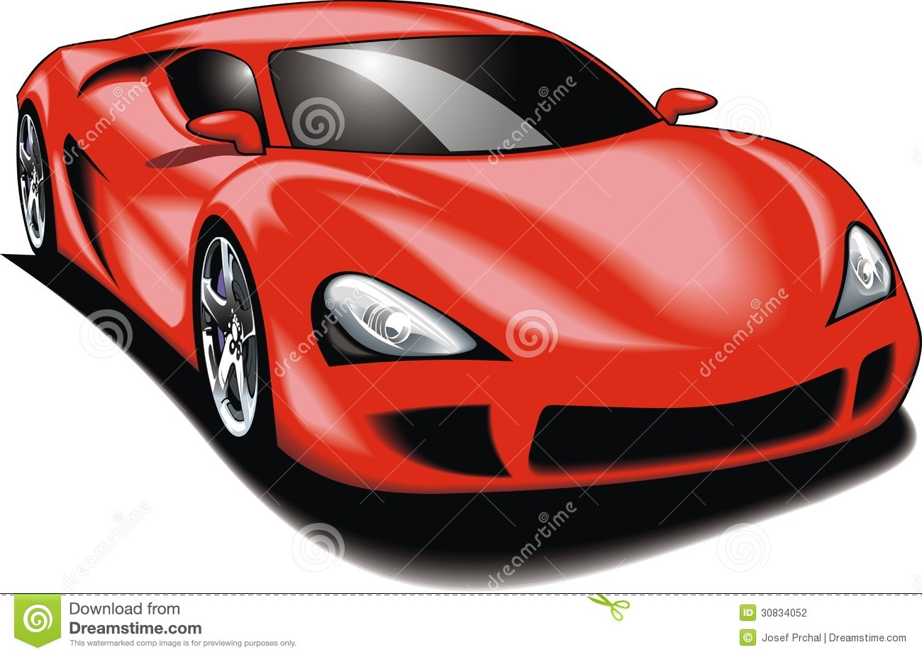My Original Sport Car (my Design) In Red Color Stock ...