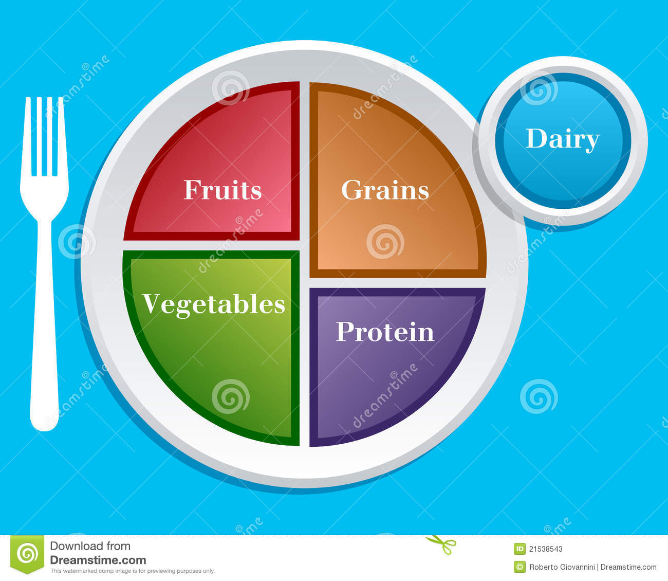 Stock Photos My Plate Diet Nutrition Guide Image21538543 on Myplate Graphic