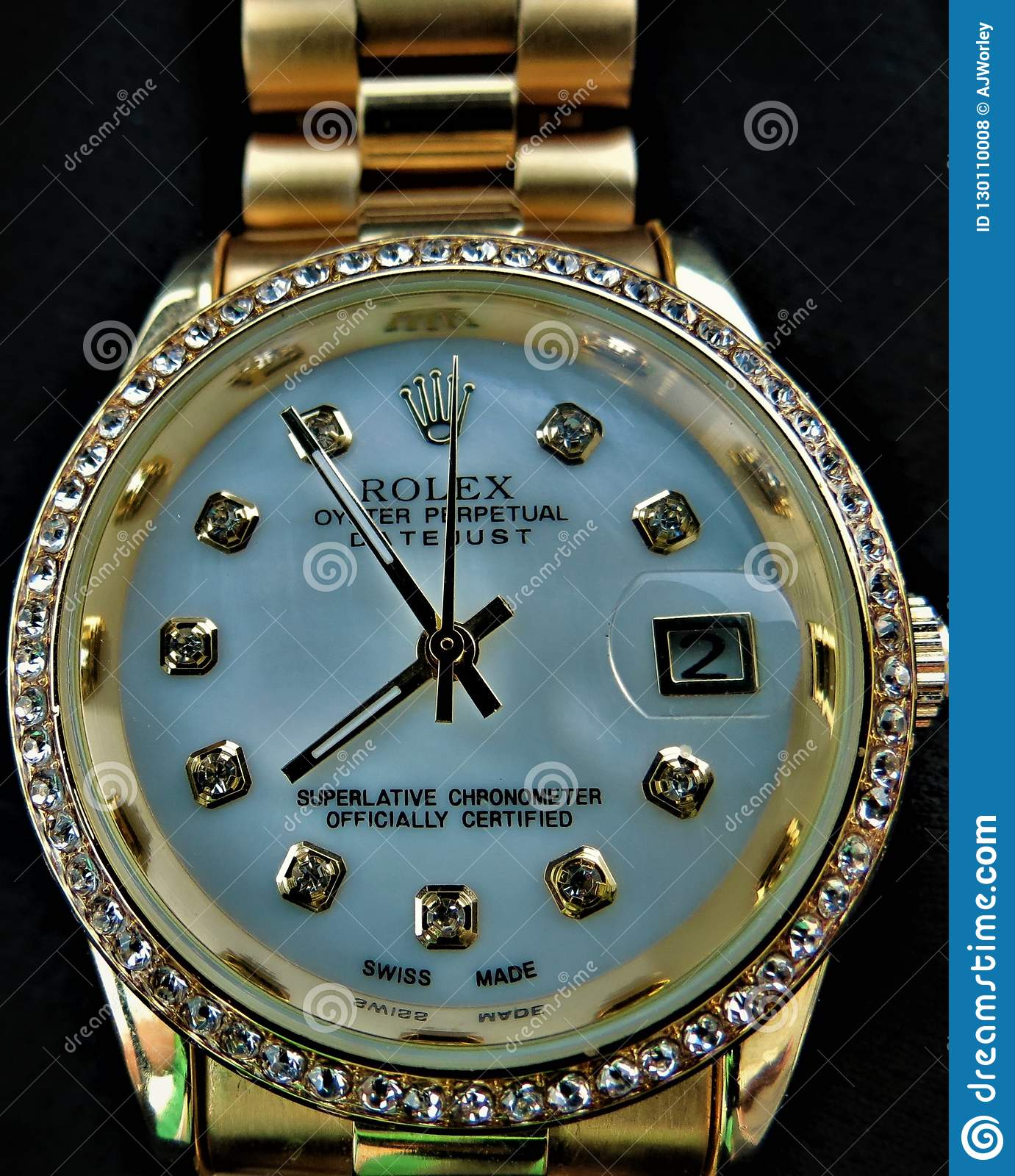 My Rolex Datejust Wrist Watch Editorial Stock Photo Image Of