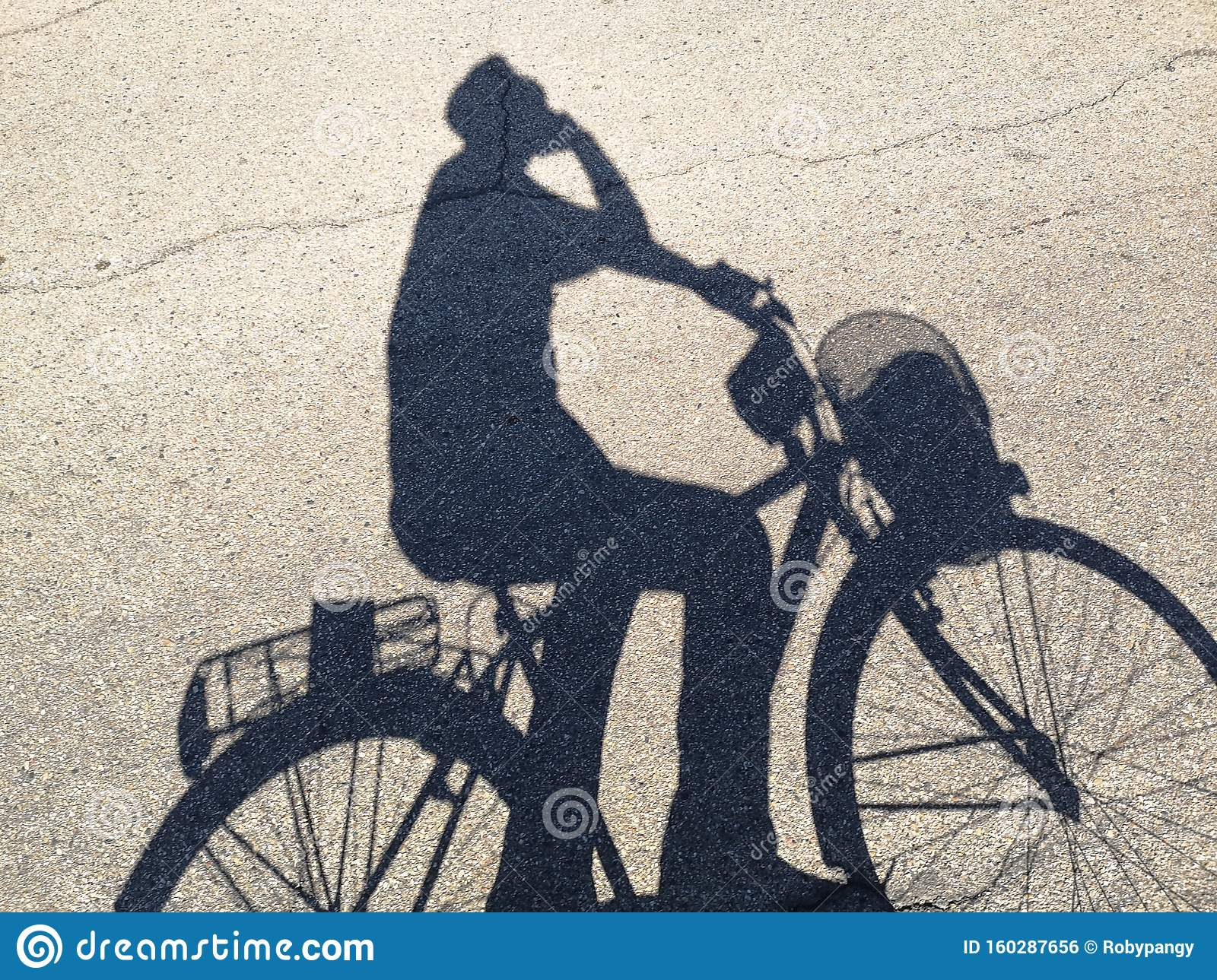 My Shadow While I Ride My Bike Stock Photo Image Of Riding
