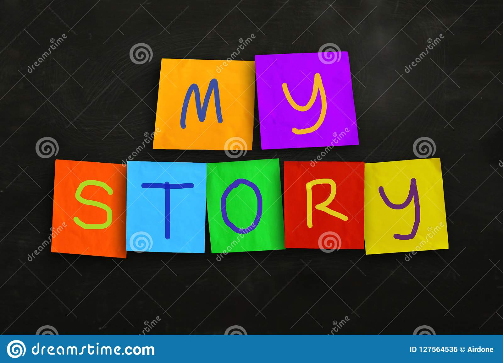 This Is My Story Motivational Inspirational Quotes Stock Photo