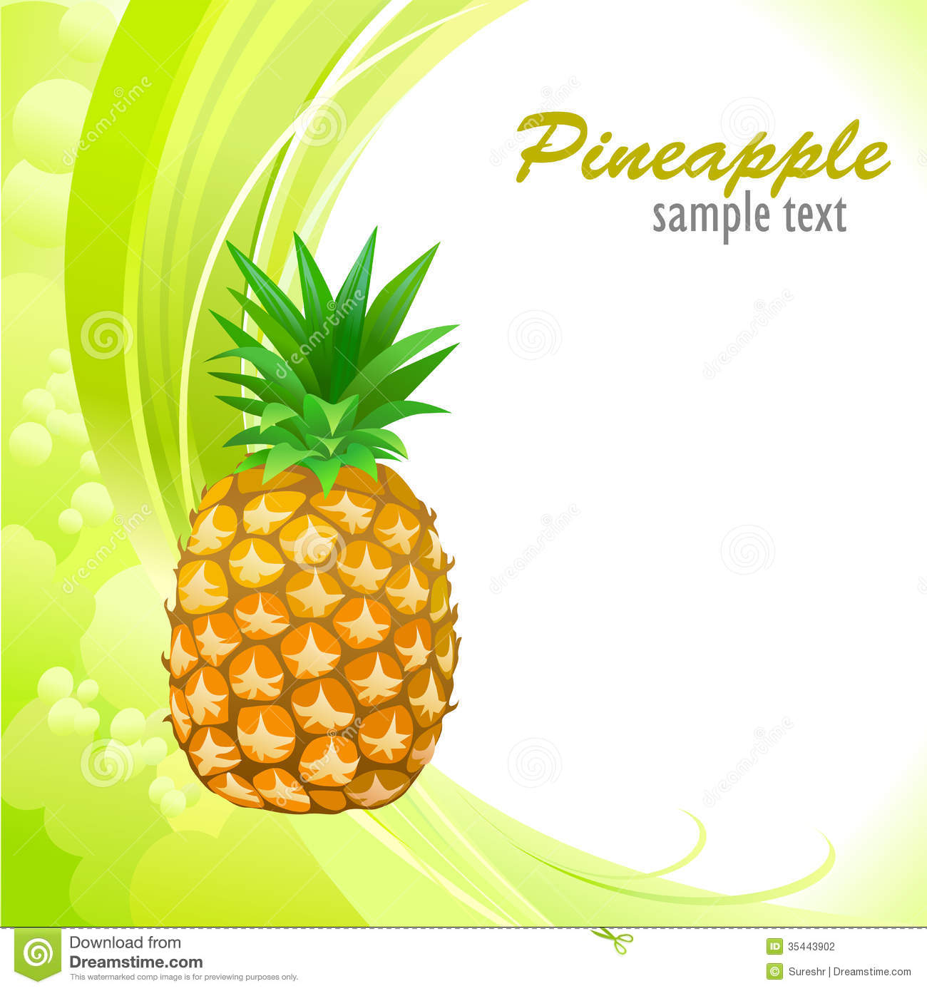 My Sweet Pineapple Stock Photography - Image: 35443902