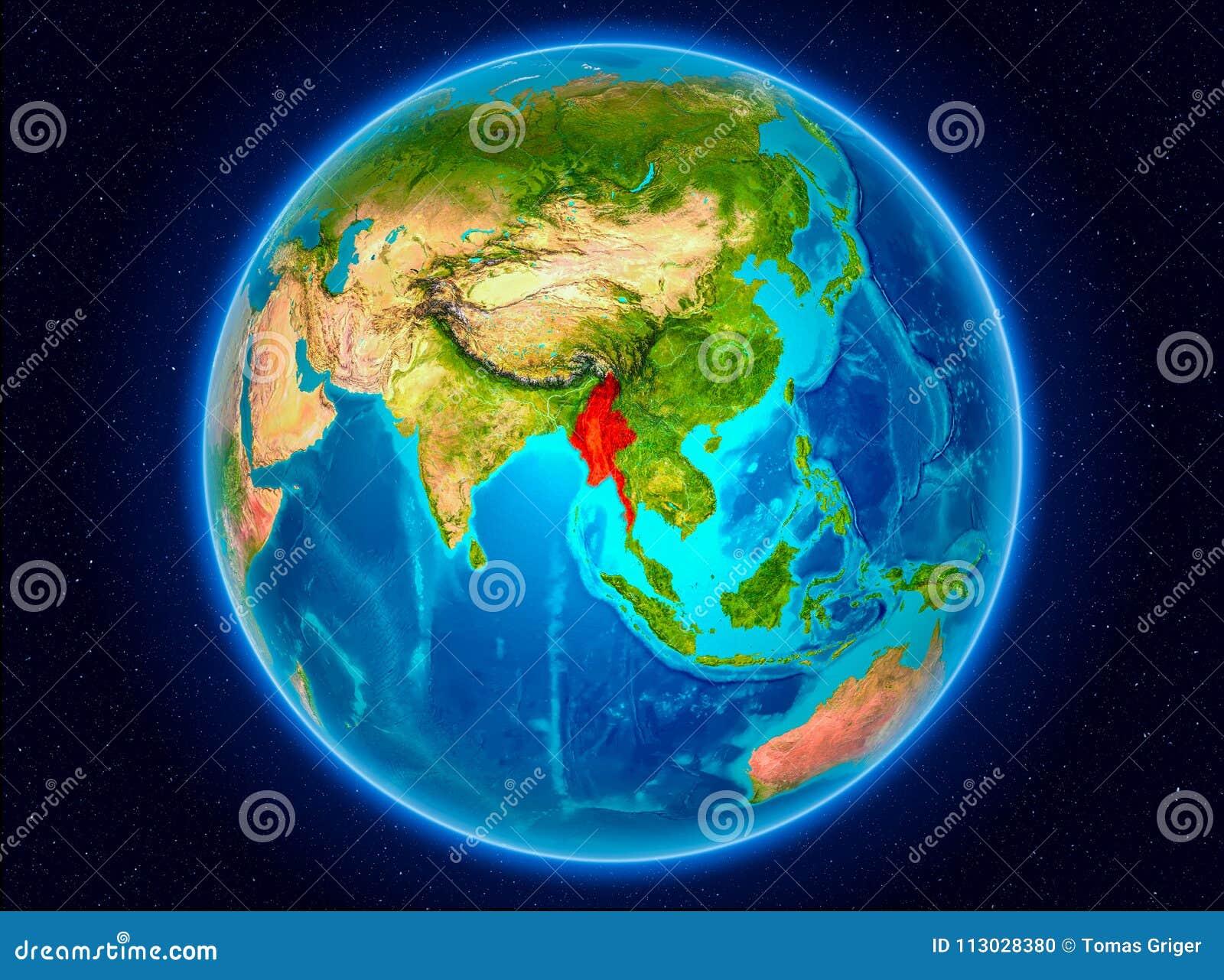Myanmar en la tierra