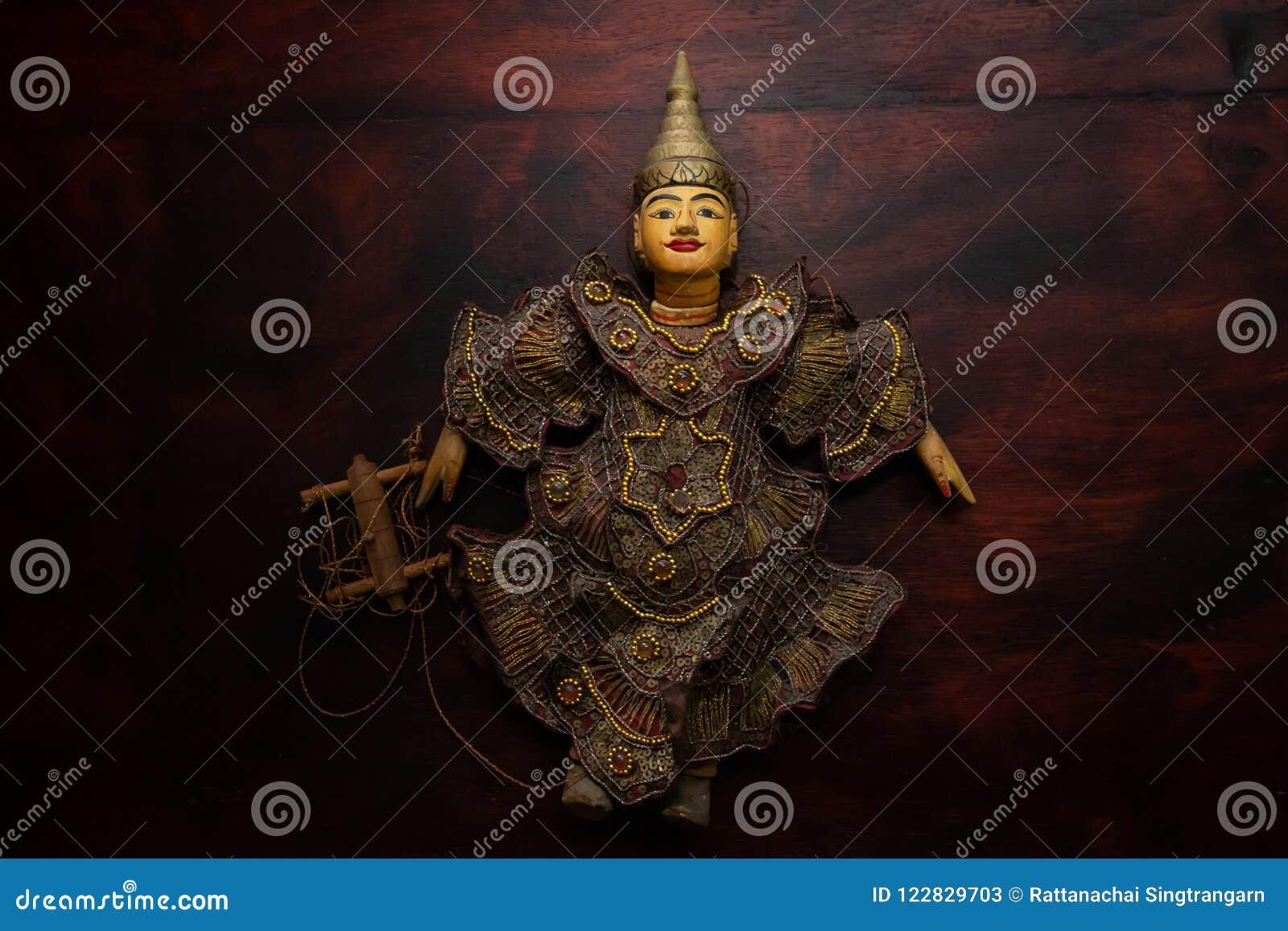 Myanmar ficelle le souvenir de jouet de marionnette