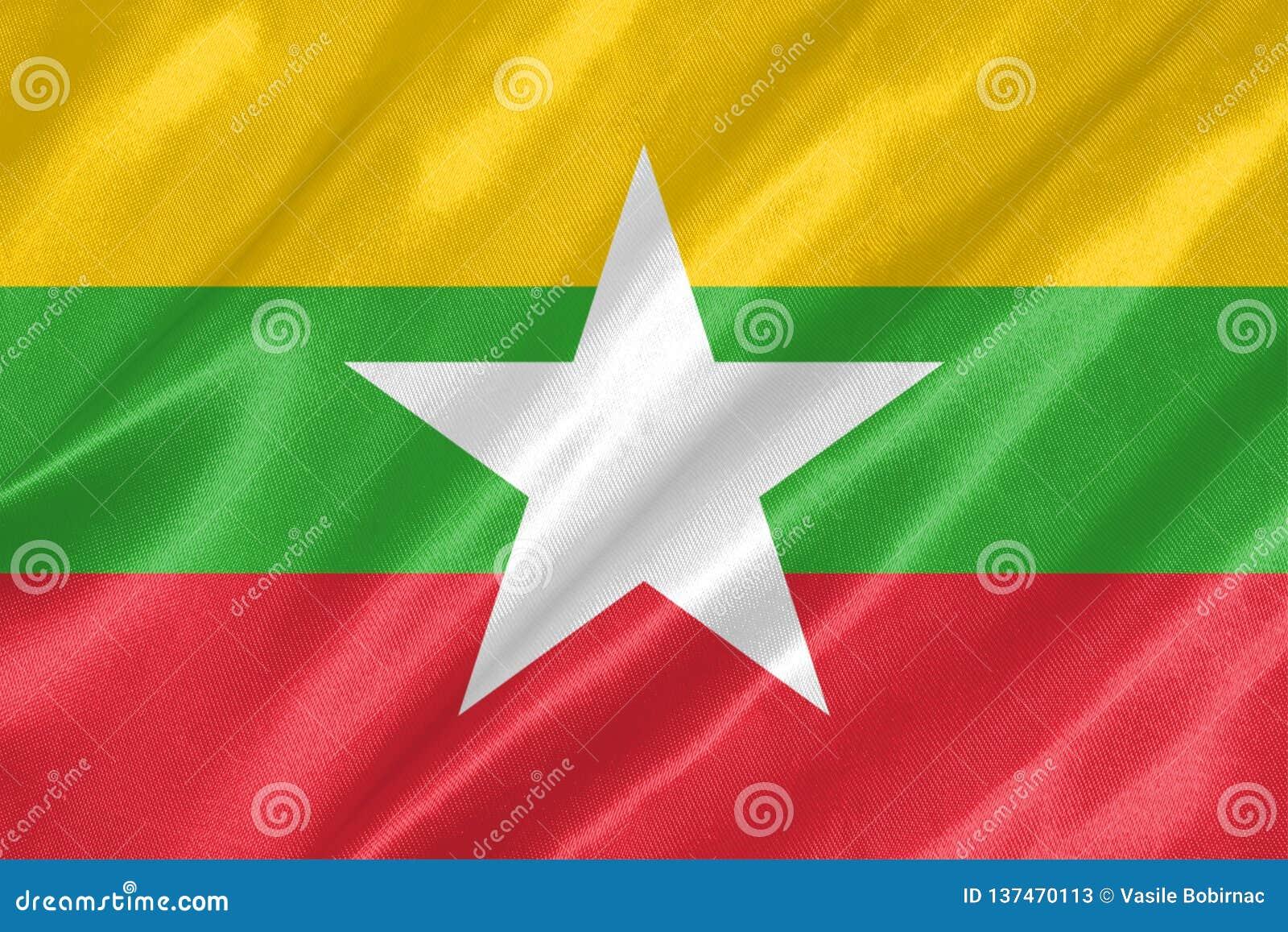 Myanmar-Flagge