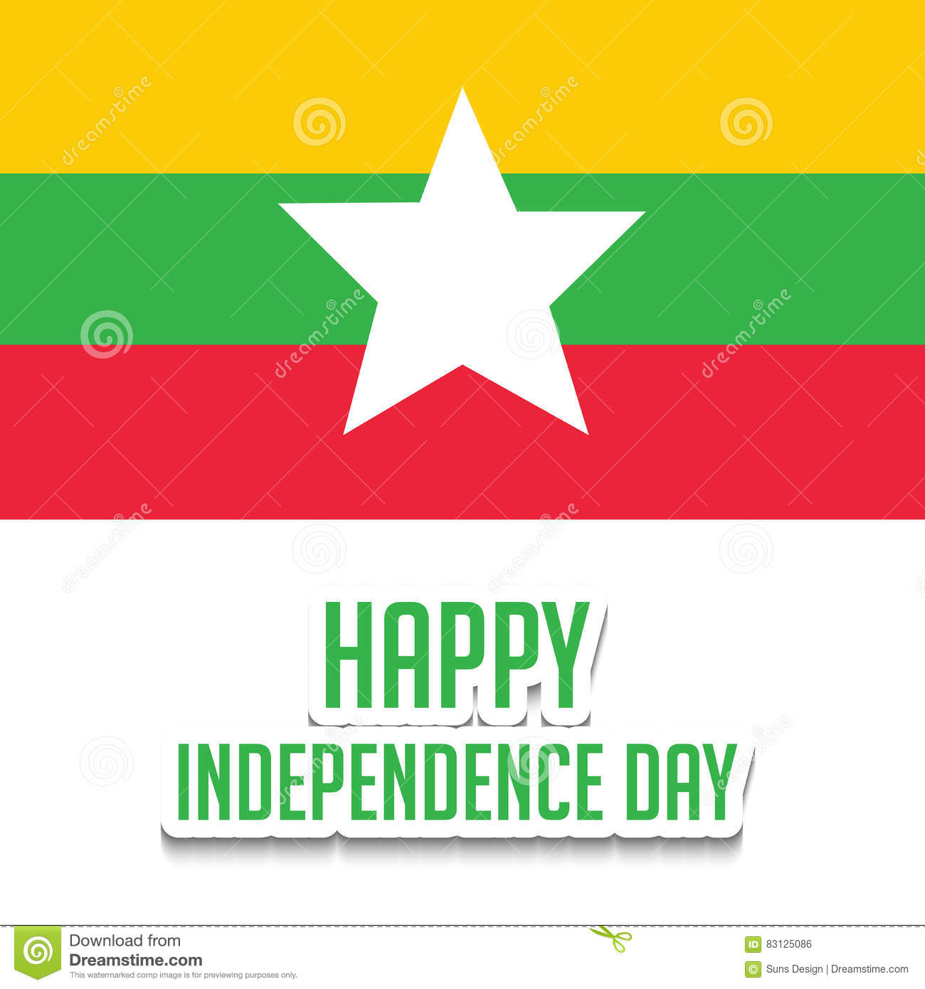 myanmar independence day royalty free stock photo
