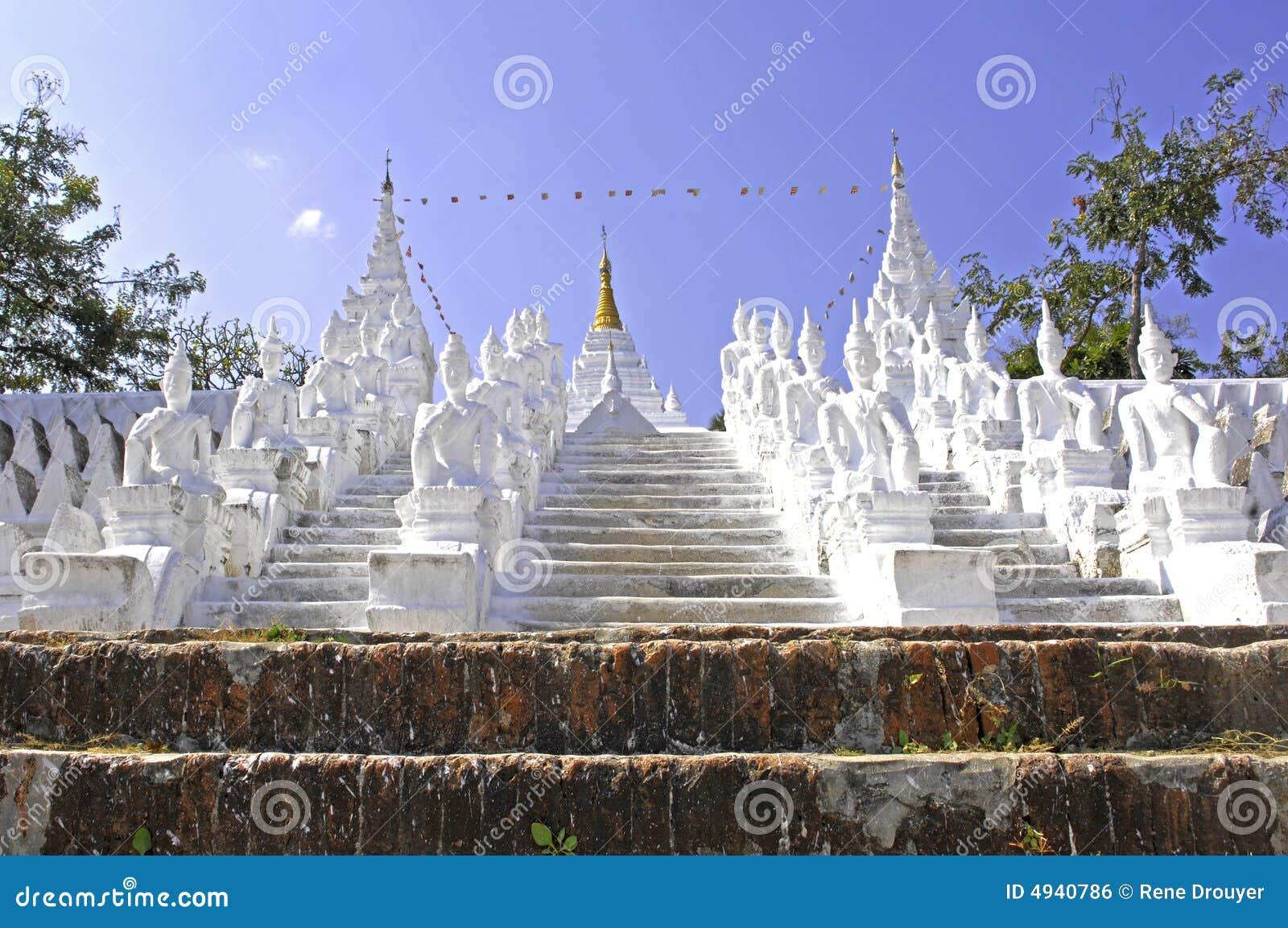 Myanmar, Mingun: pagoda blanca