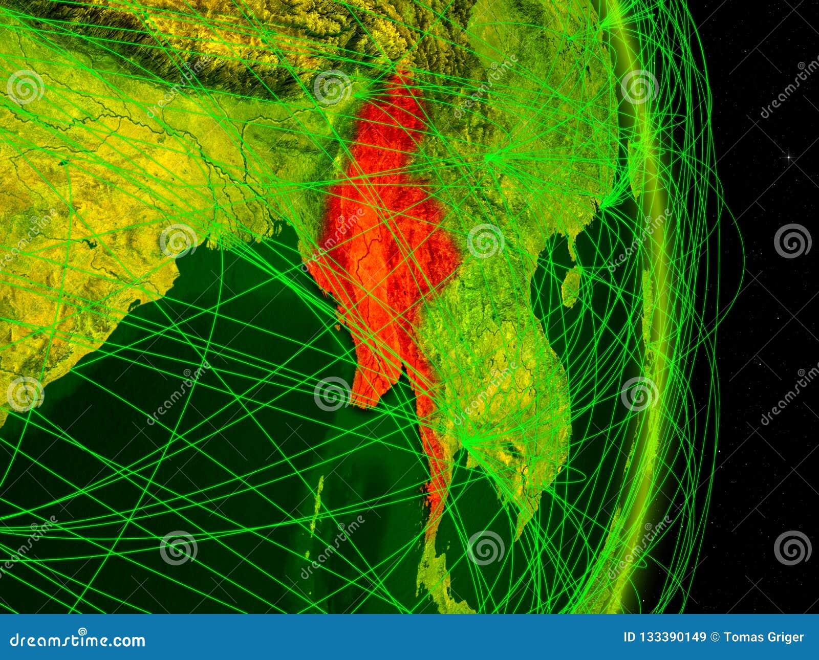 Myanmar na terra digital
