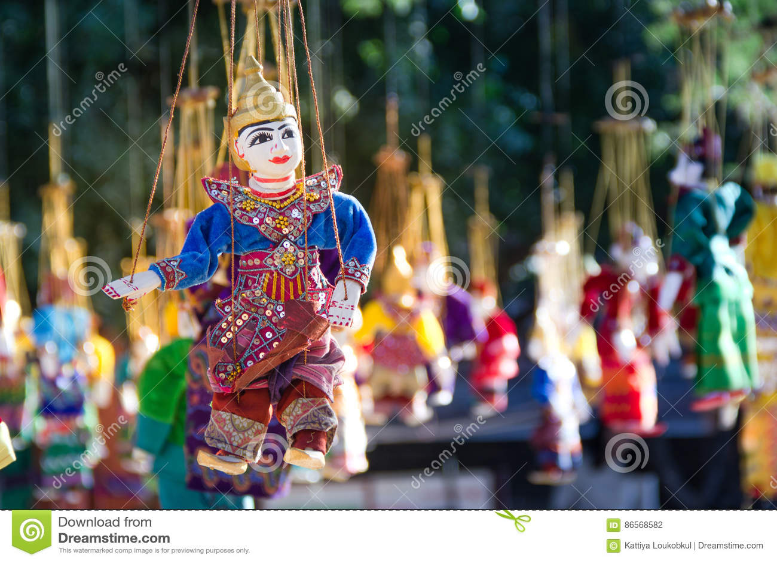Myanmar tradition puppet souvenir