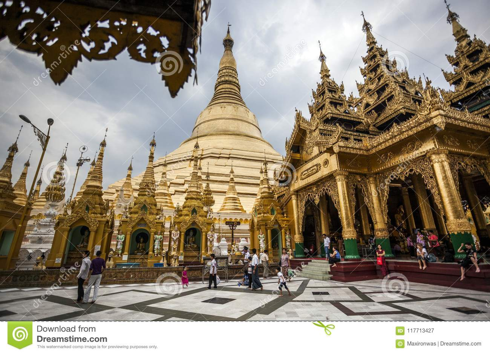 Myanmar - Yangon - o GRANDE PAGODE de SHWEDAGON