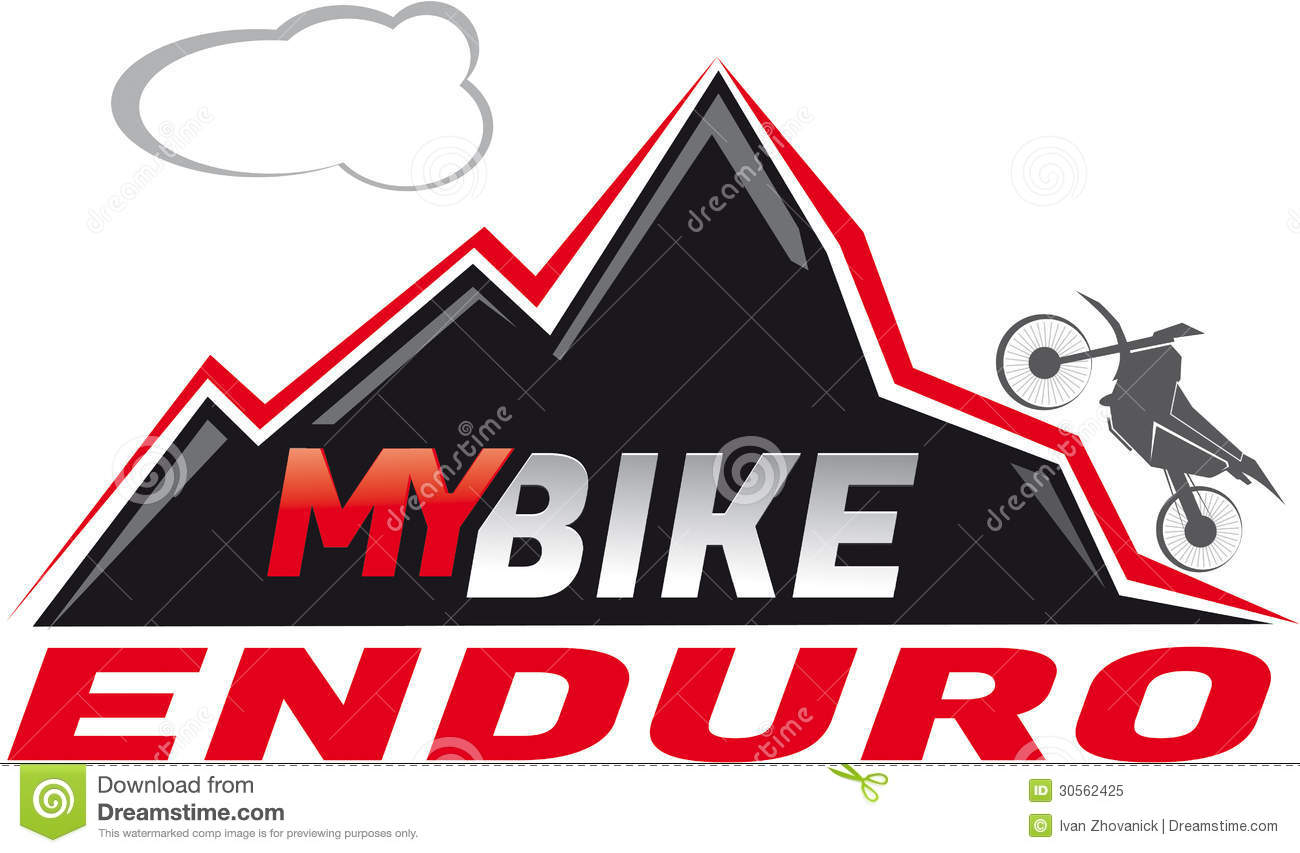 Logotype or sticker for enduro motor cycle