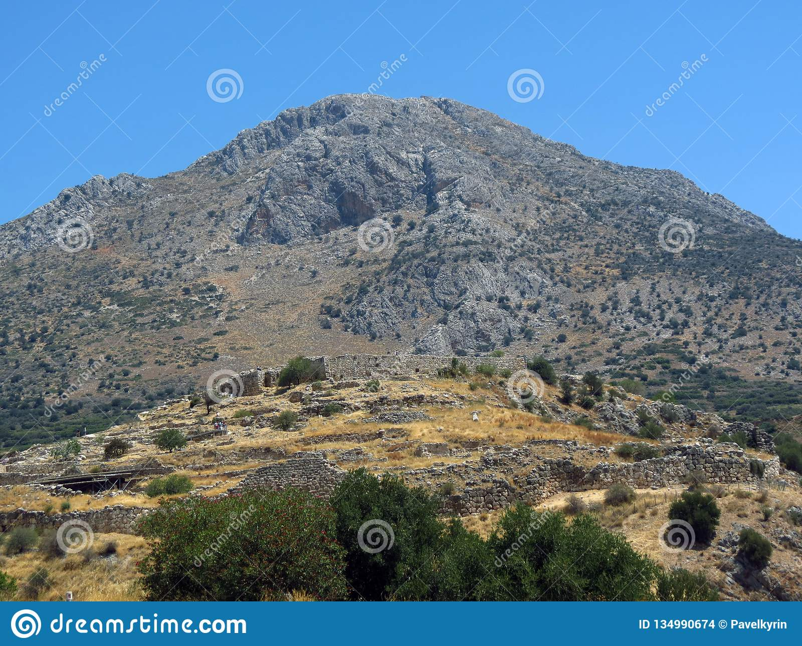 Mycenae, the tomb of the ancient ruler with the collapsed vault