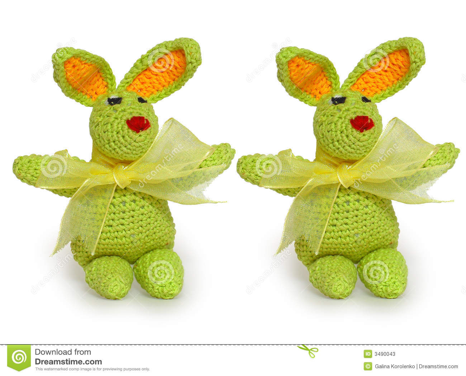 Mycket lilla gröna dekorativa kaniner
