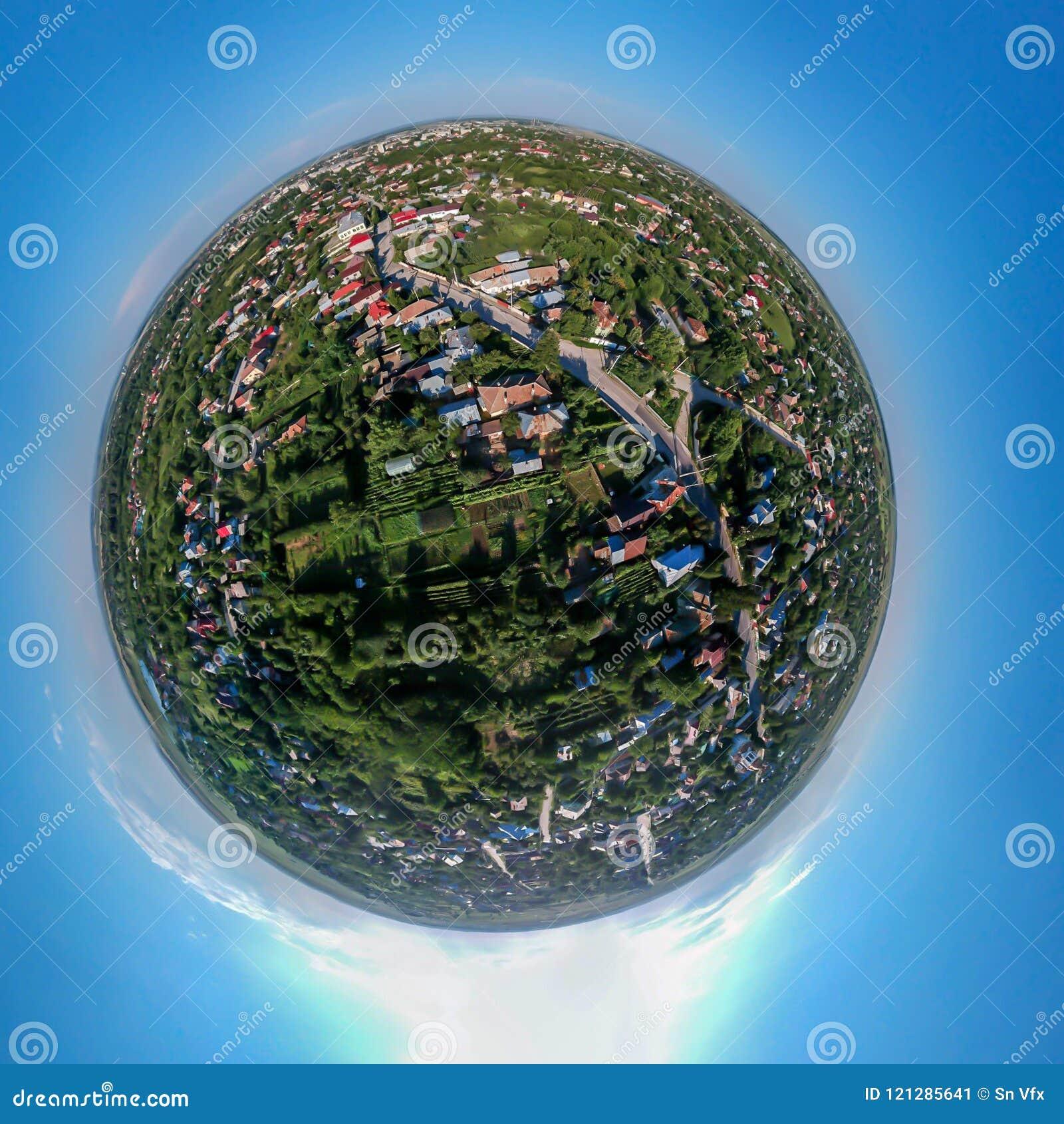 Mycket liten panorama för planet 360 av Caracal Rumänien