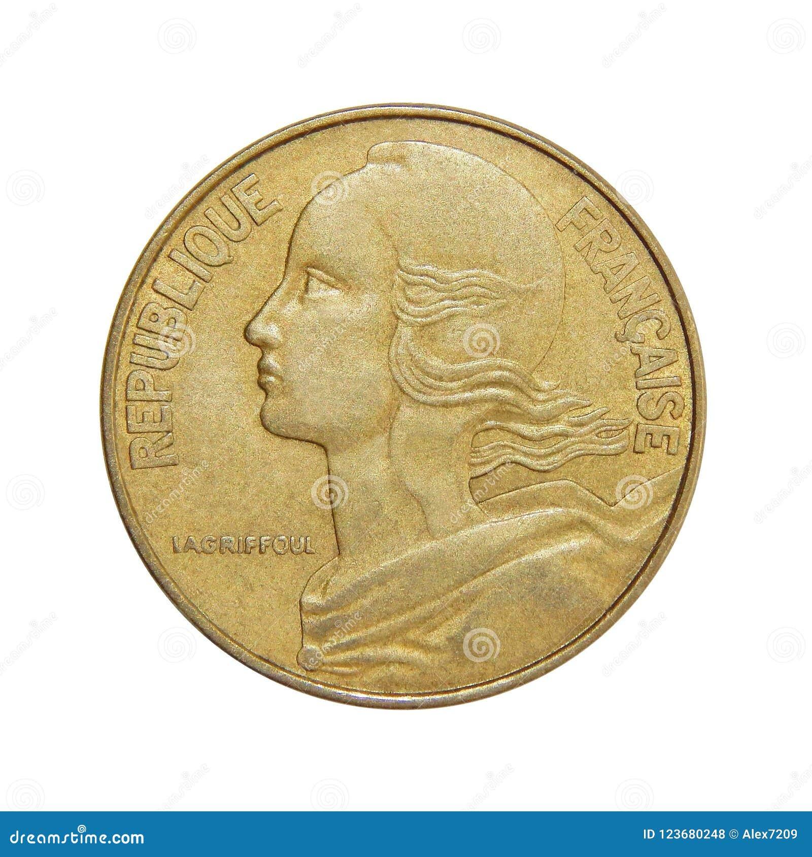Mynt av Frankrike 20 centimes
