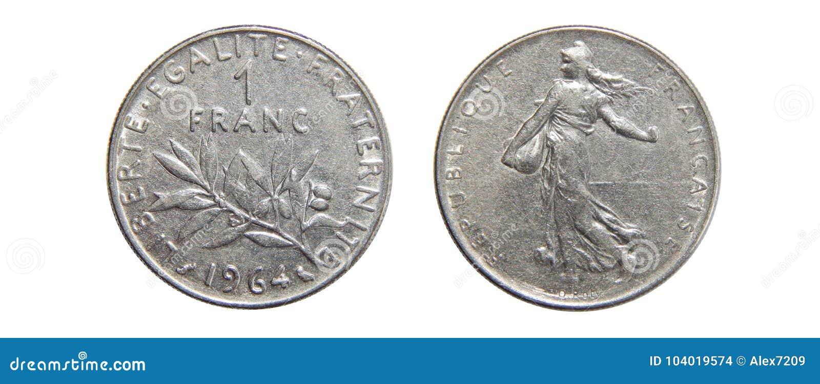 Mynt av Frankrike 1 franc 1964