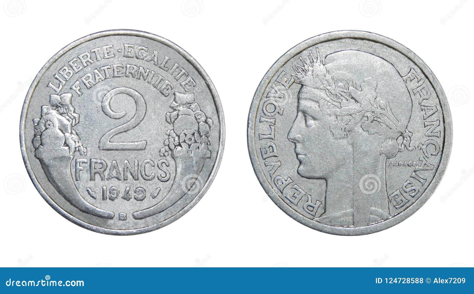 Mynt av Frankrike 2 franc