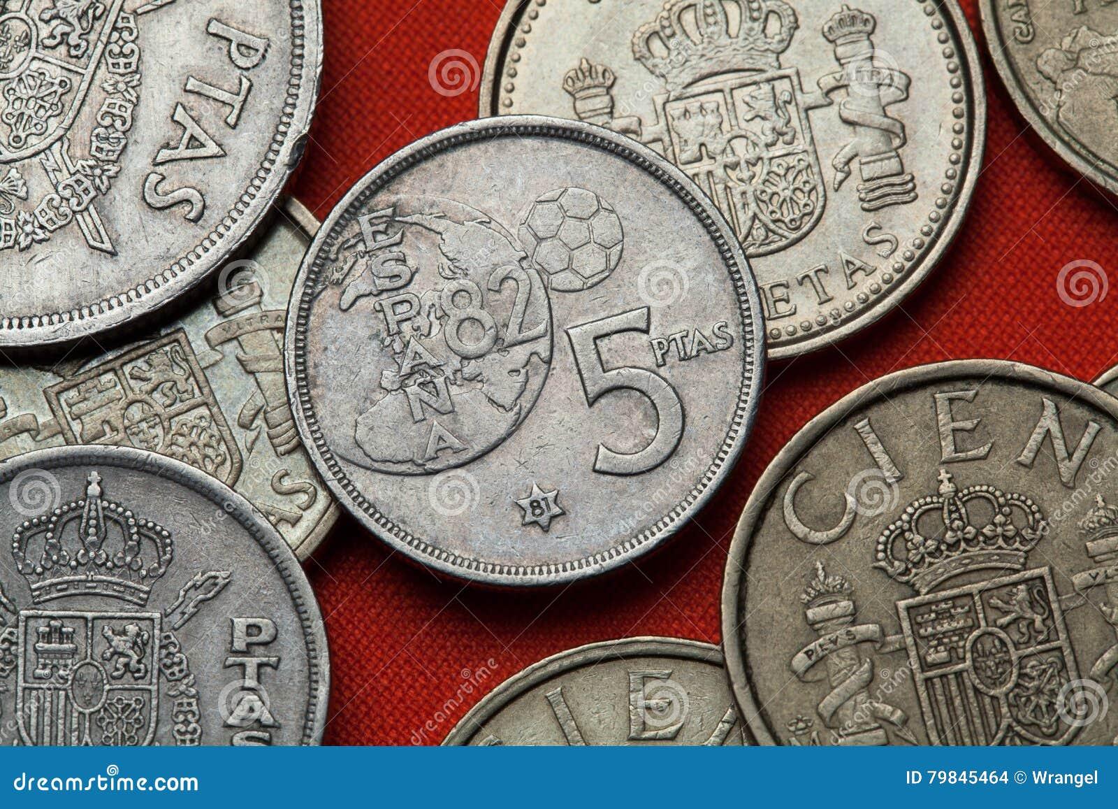 Mynt av Spanien FIFA världscup 1982