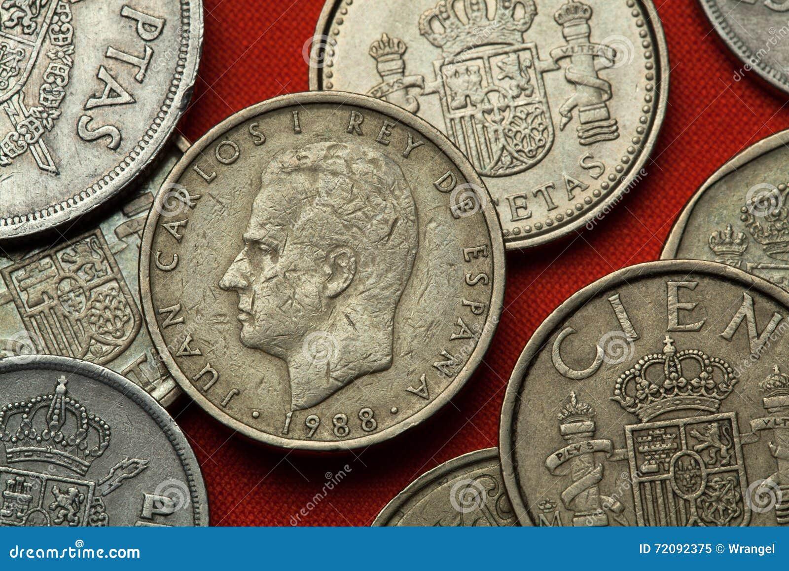 Mynt av Spanien Konung Juan Carlos I