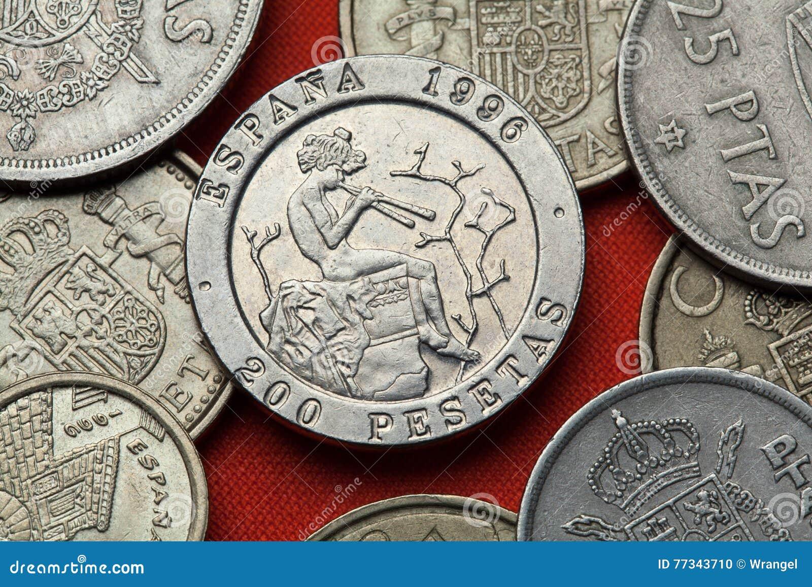 Mynt av Spanien Spansk målare Mariano Fortuny