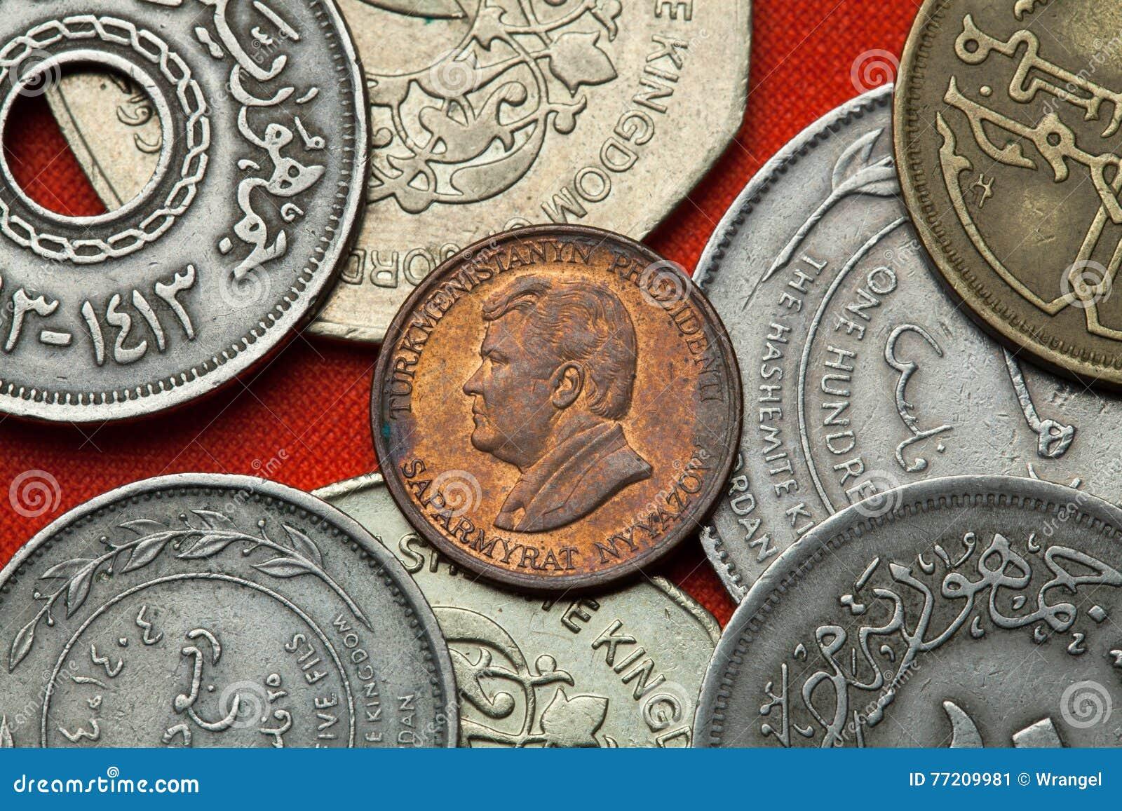 Mynt av Turkmenistan Turkmensk president Saparmurat Niyazov