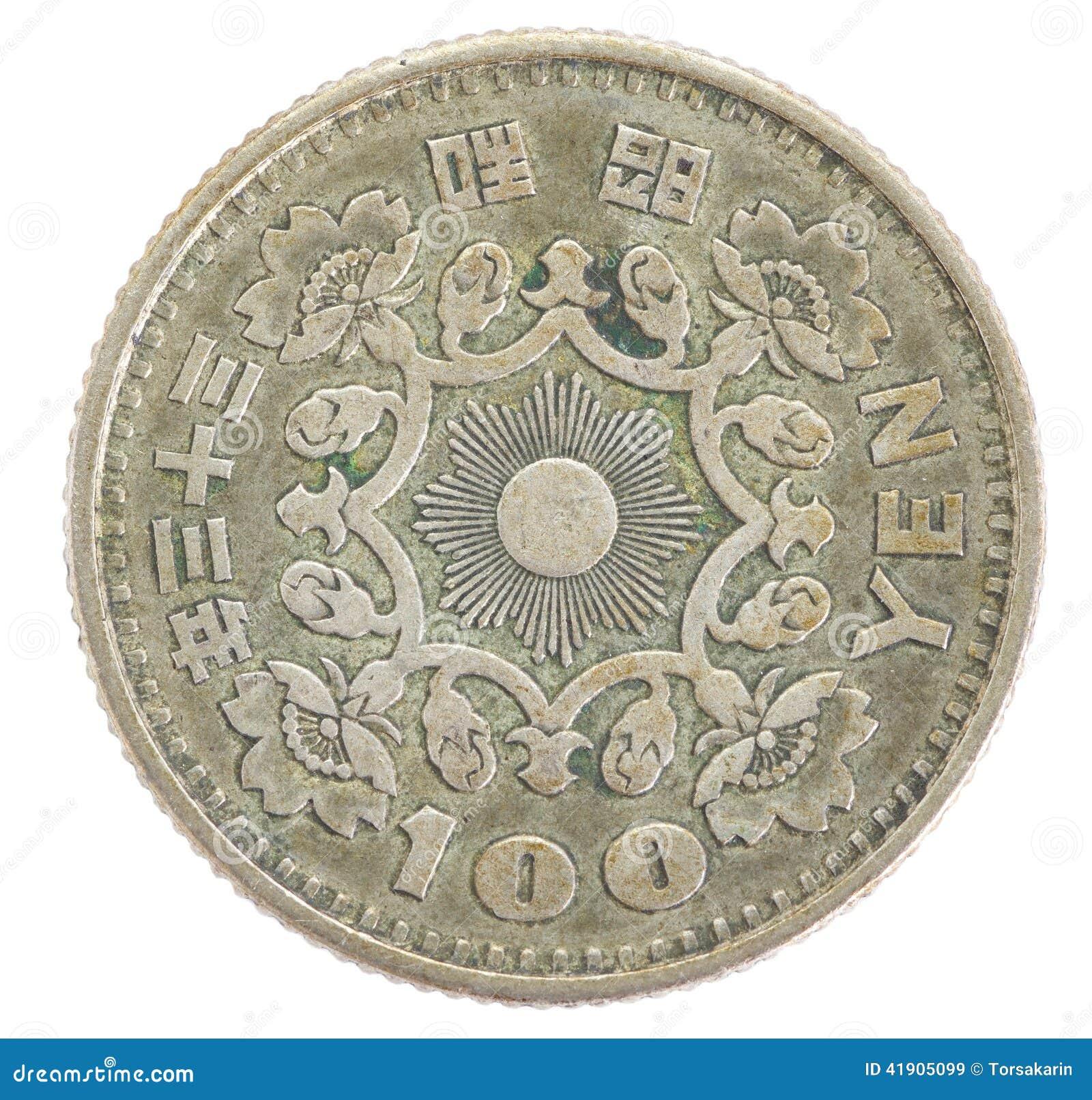 Mynt för japansk yen 100