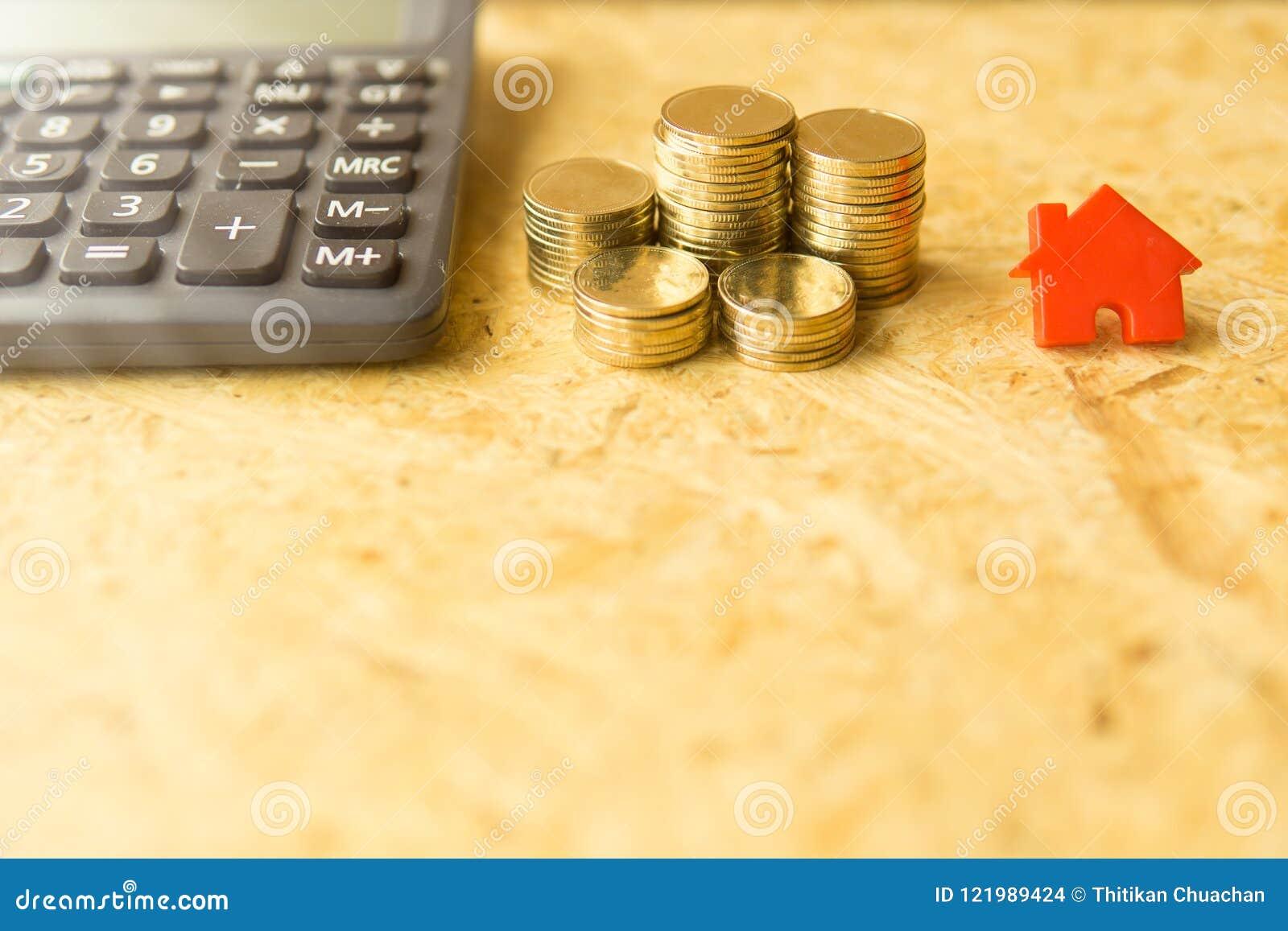 Mynt returnerar och räknemaskinshowbegreppet av pengar