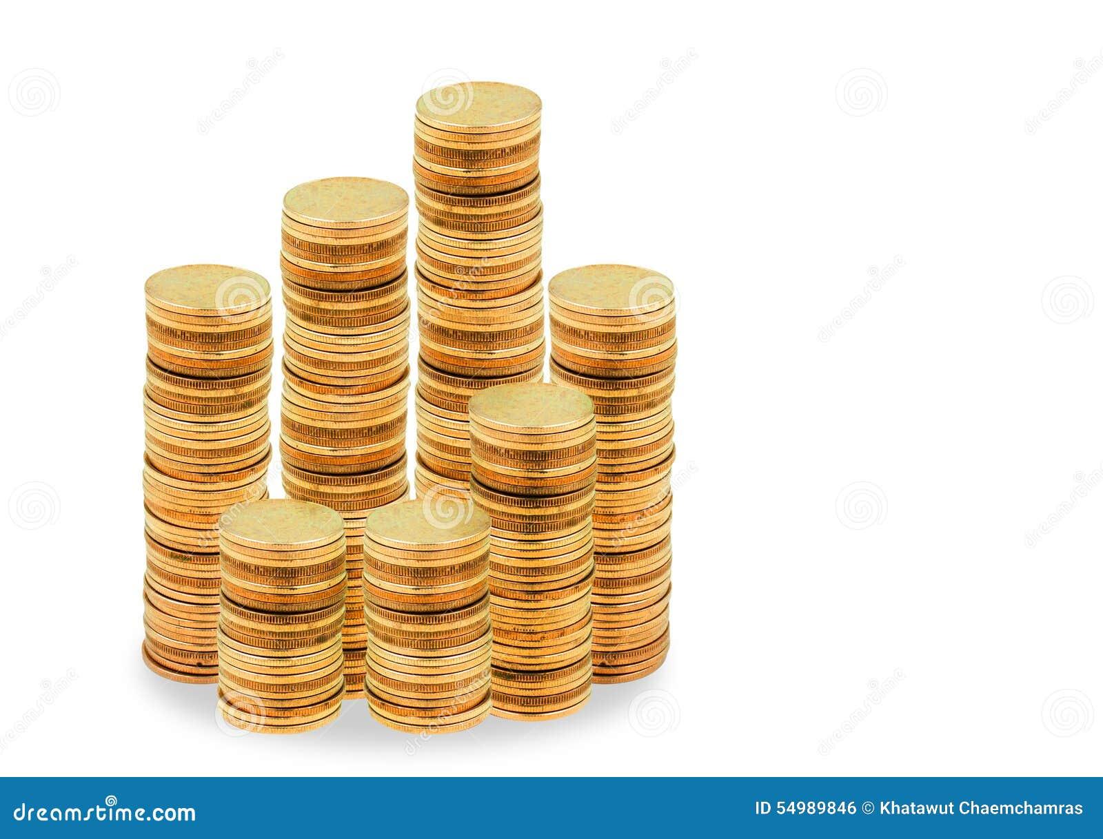 Myntbunt på vit bakgrund