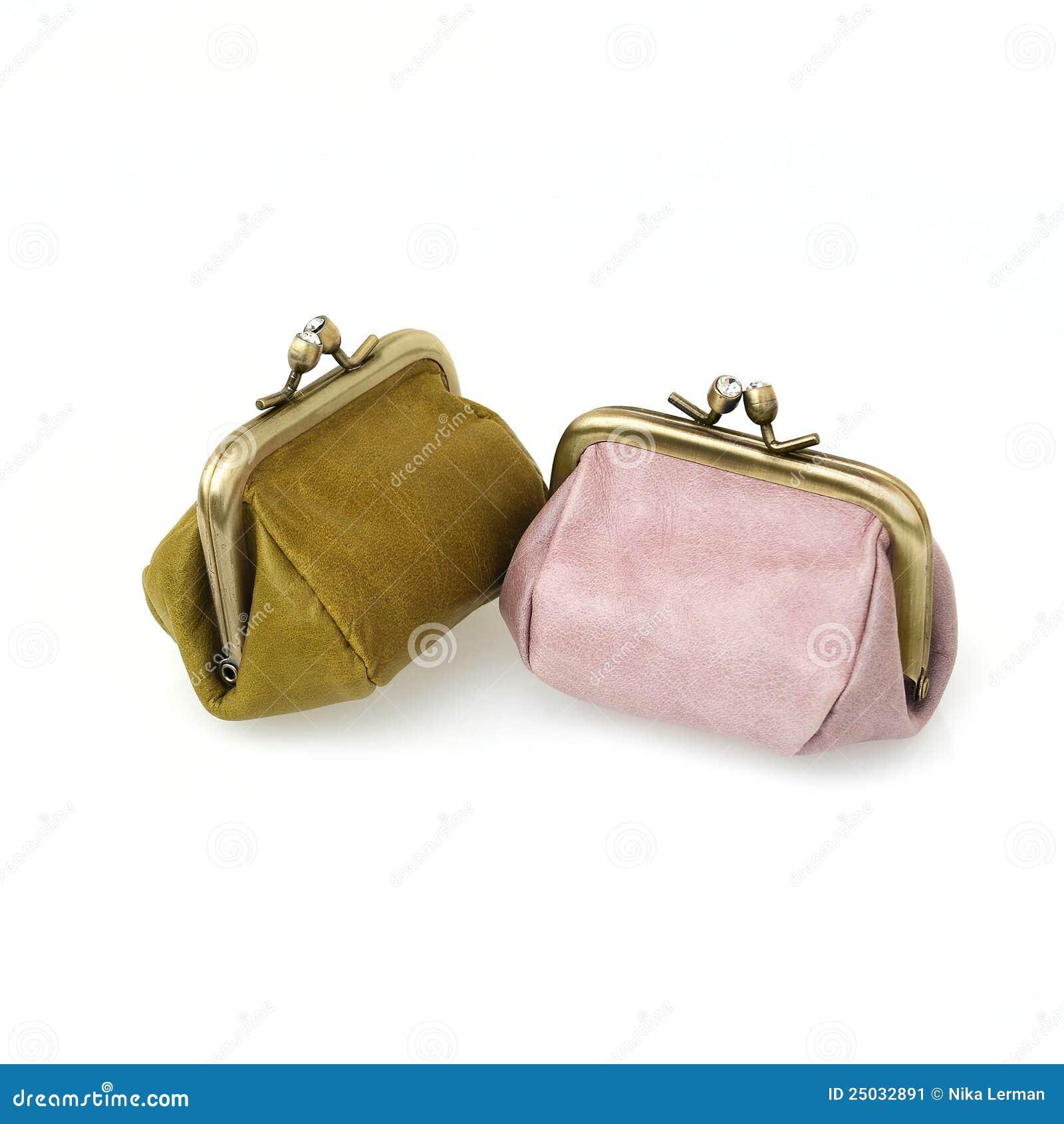 Myntläderhandväska