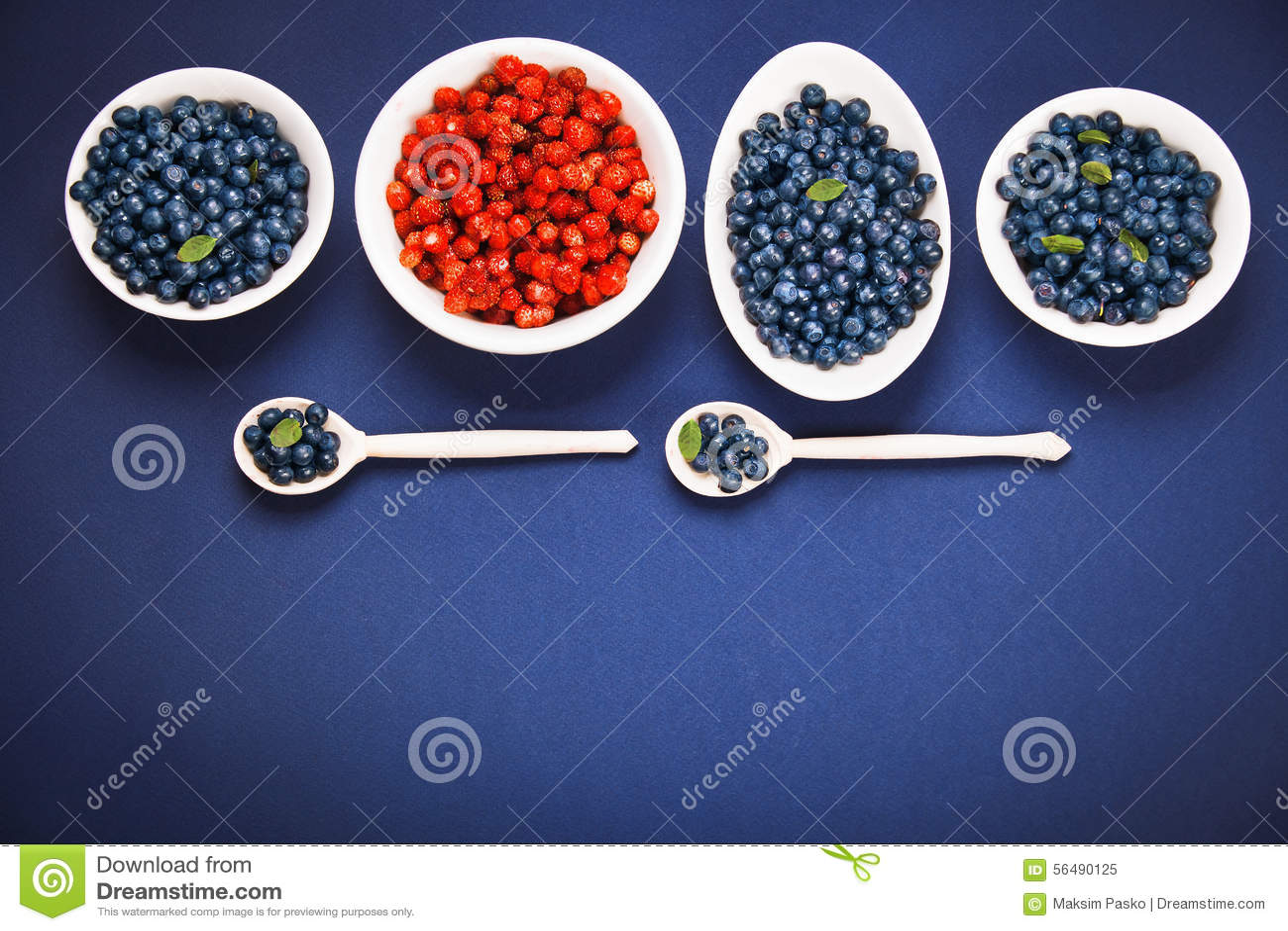 Myrtilles et fraises