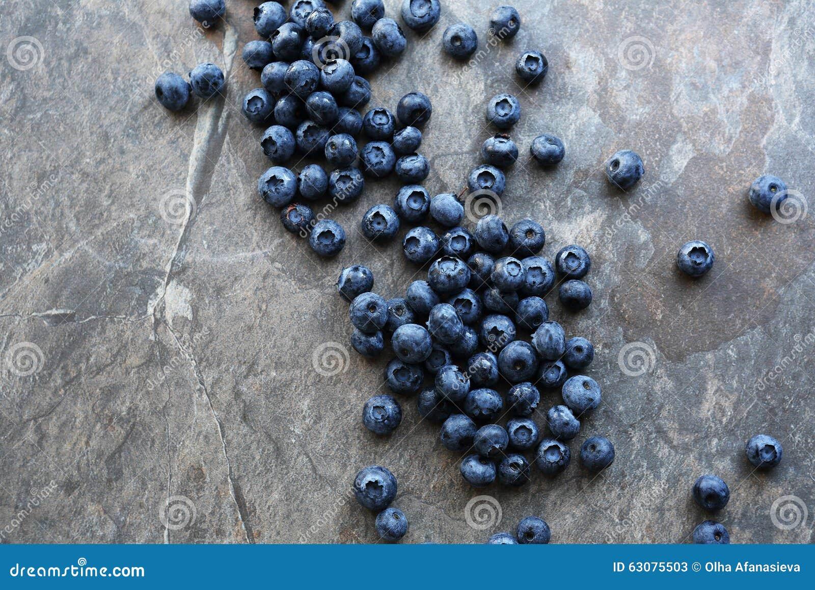 Download Myrtilles Fraîches Sur La Pierre Image stock - Image du bleu, closeup: 63075503