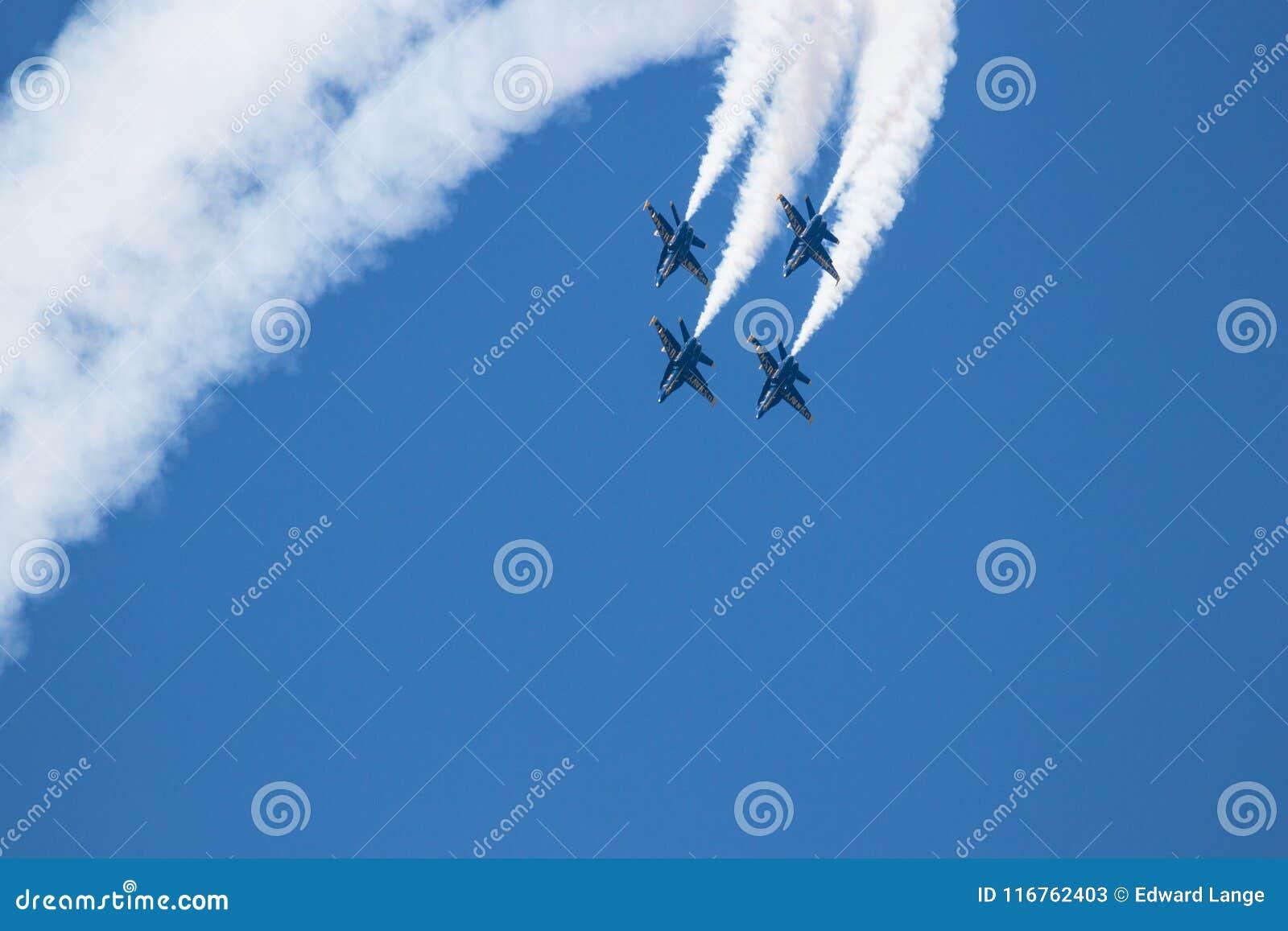 Myrtle Beach South Carolina Air show med de blåa änglarna