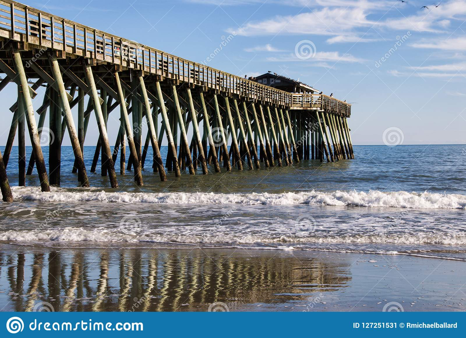 Myrtle Beach State Park Pier On A Winters Day Stock Image ...